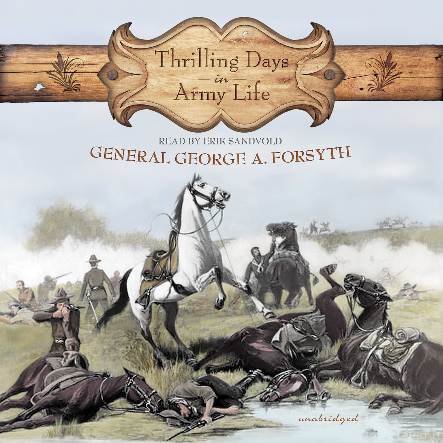 Printable Thrilling Days in Army Life Audiobook Cover Art