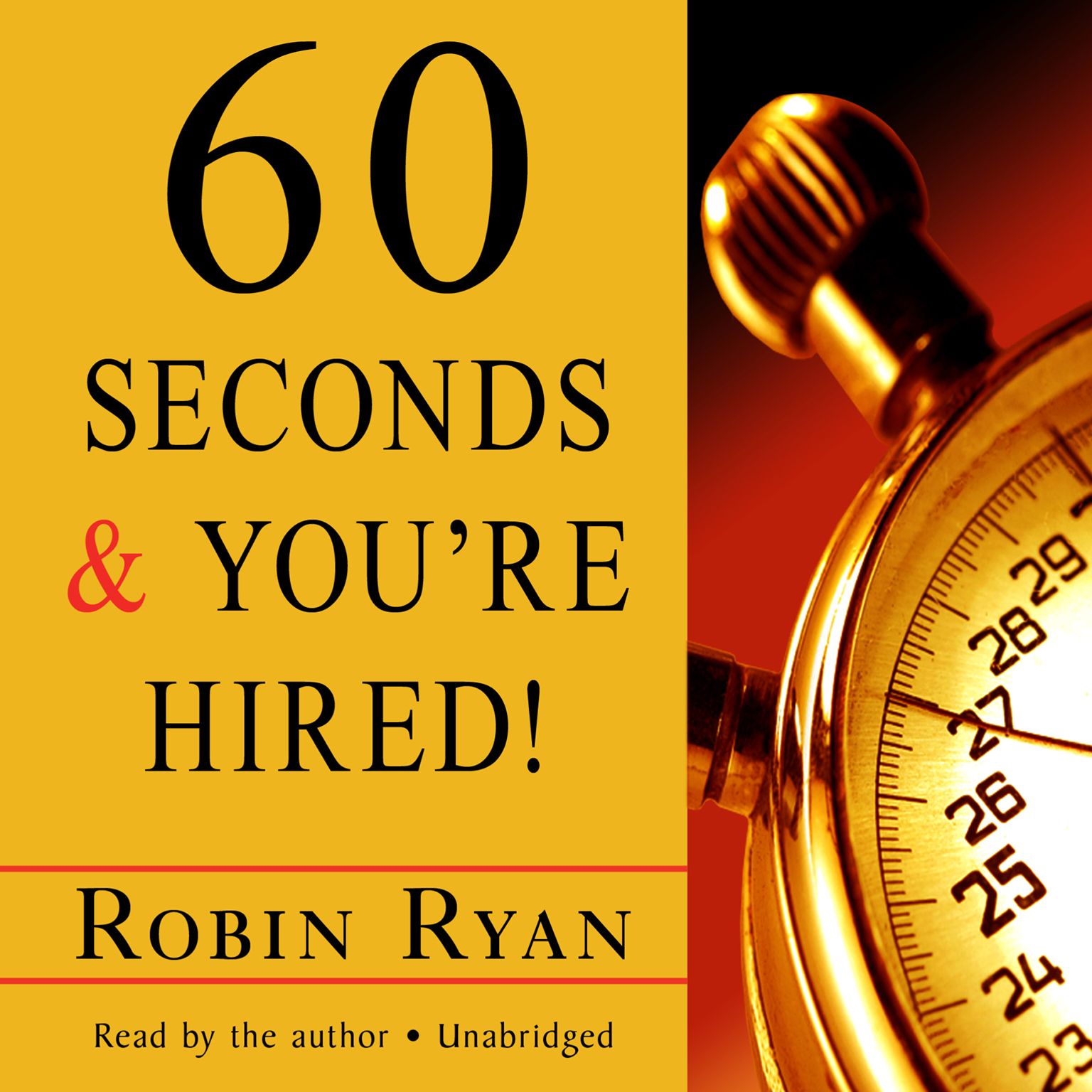 Printable 60 Seconds and You're Hired! Audiobook Cover Art