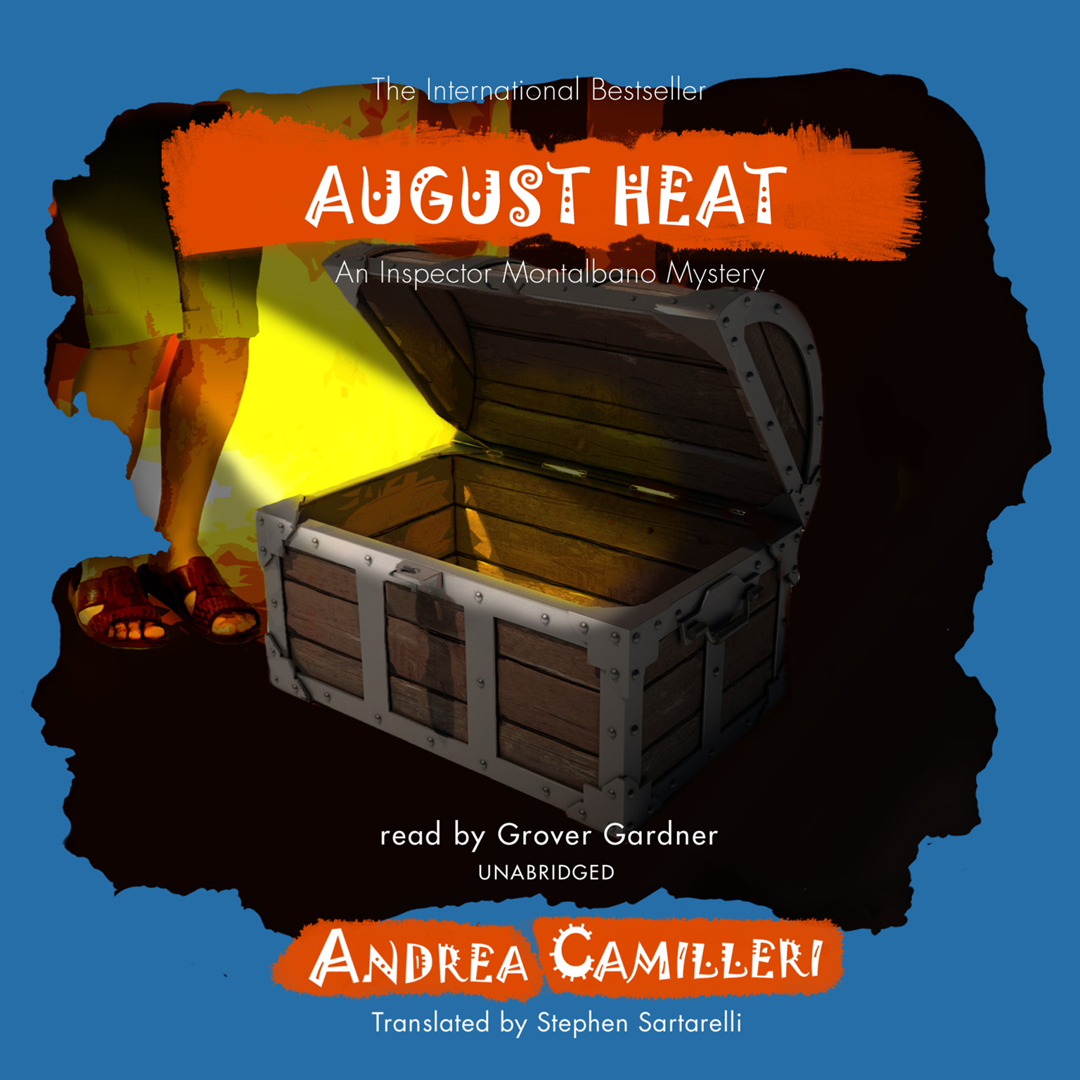 Printable August Heat: An Inspector Montalbano Mystery Audiobook Cover Art