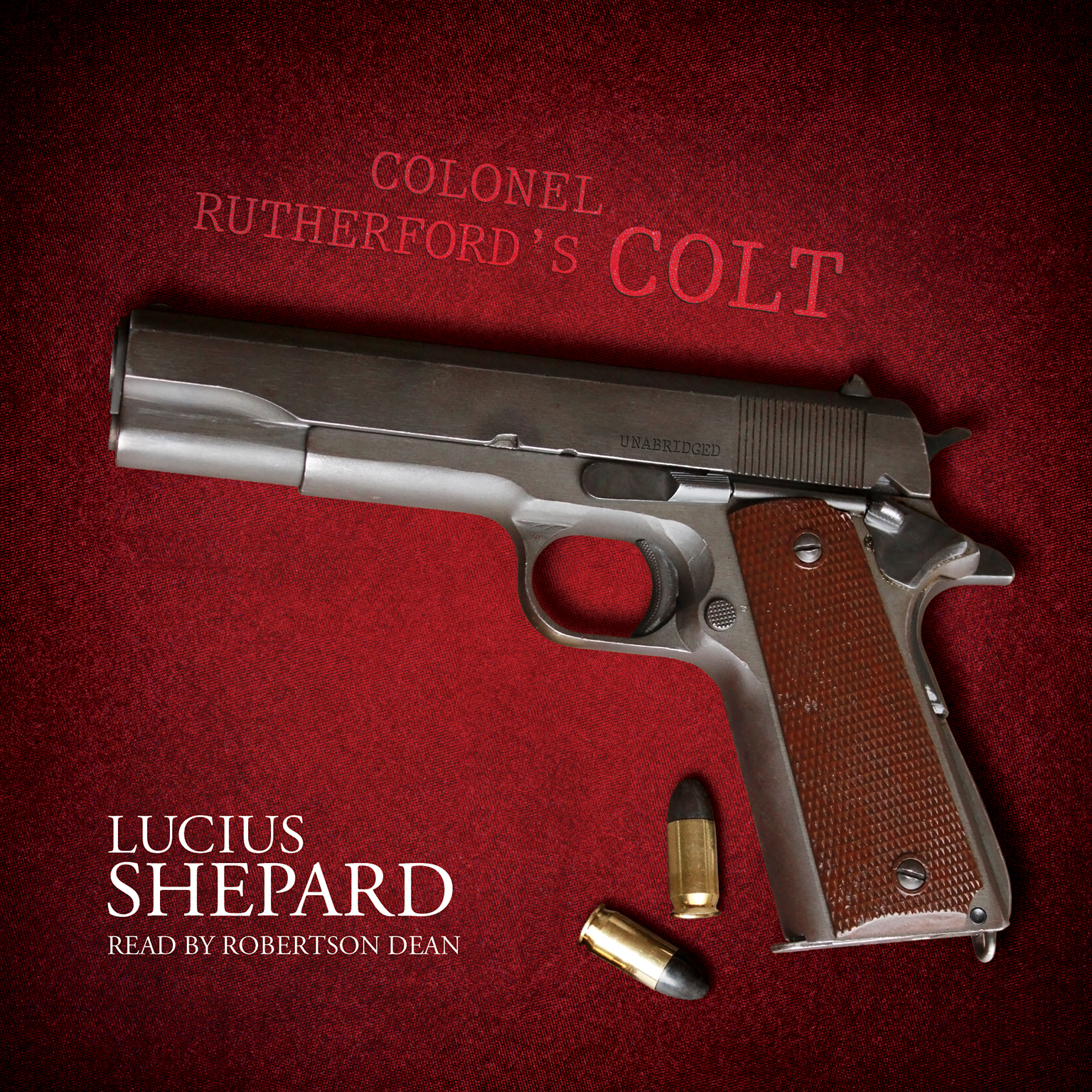 Printable Colonel Rutherford's Colt Audiobook Cover Art