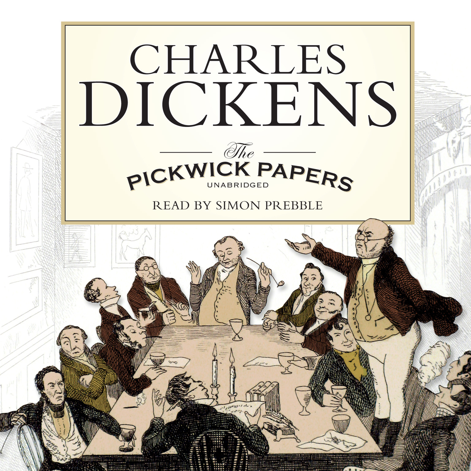 Printable The Pickwick Papers Audiobook Cover Art