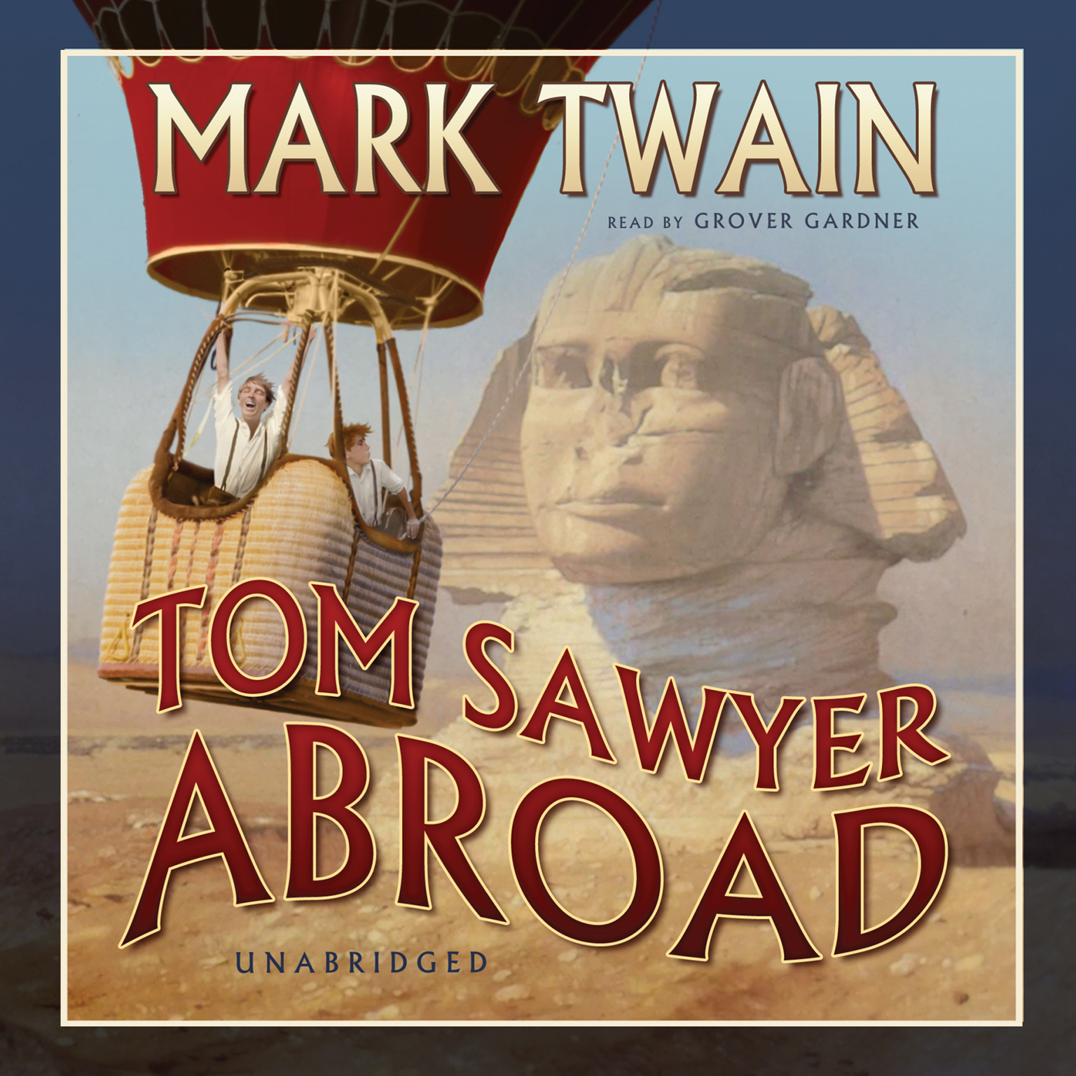 Printable Tom Sawyer Abroad Audiobook Cover Art