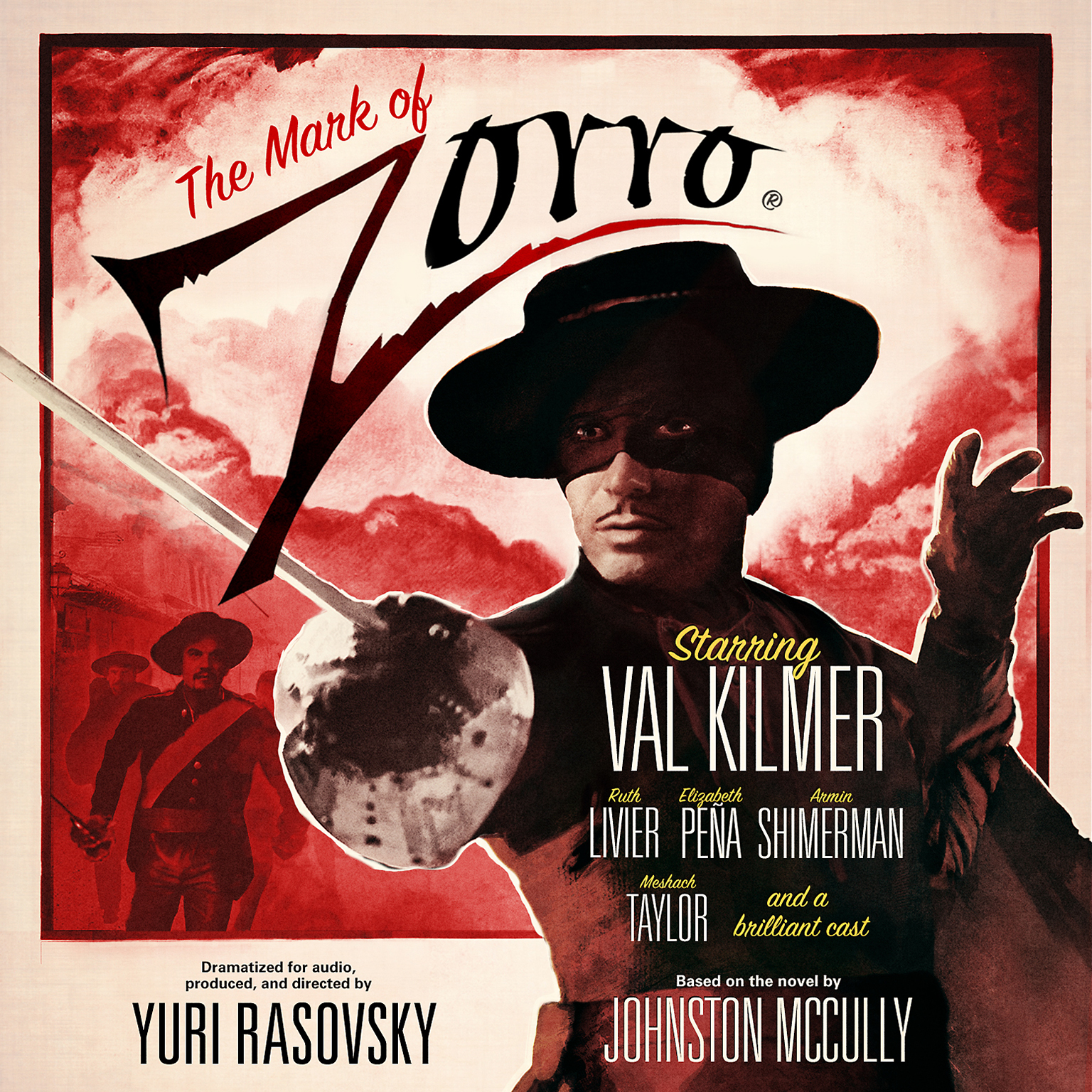Printable The Mark of Zorro Audiobook Cover Art
