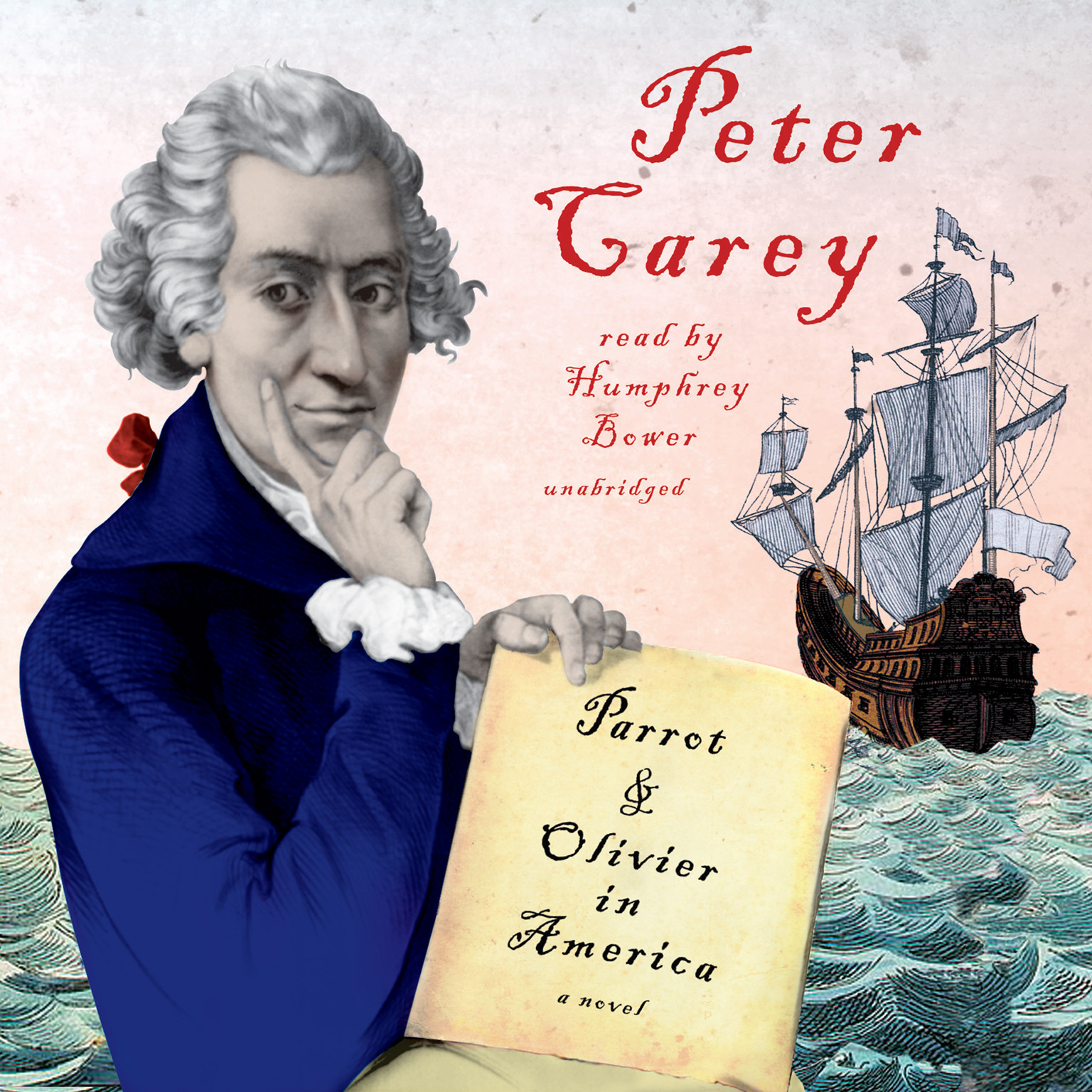 Printable Parrot and Olivier in America Audiobook Cover Art