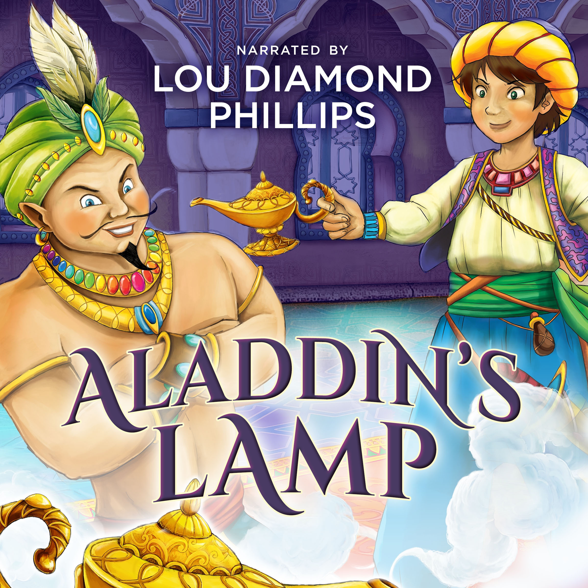 Printable Aladdin's Lamp Audiobook Cover Art