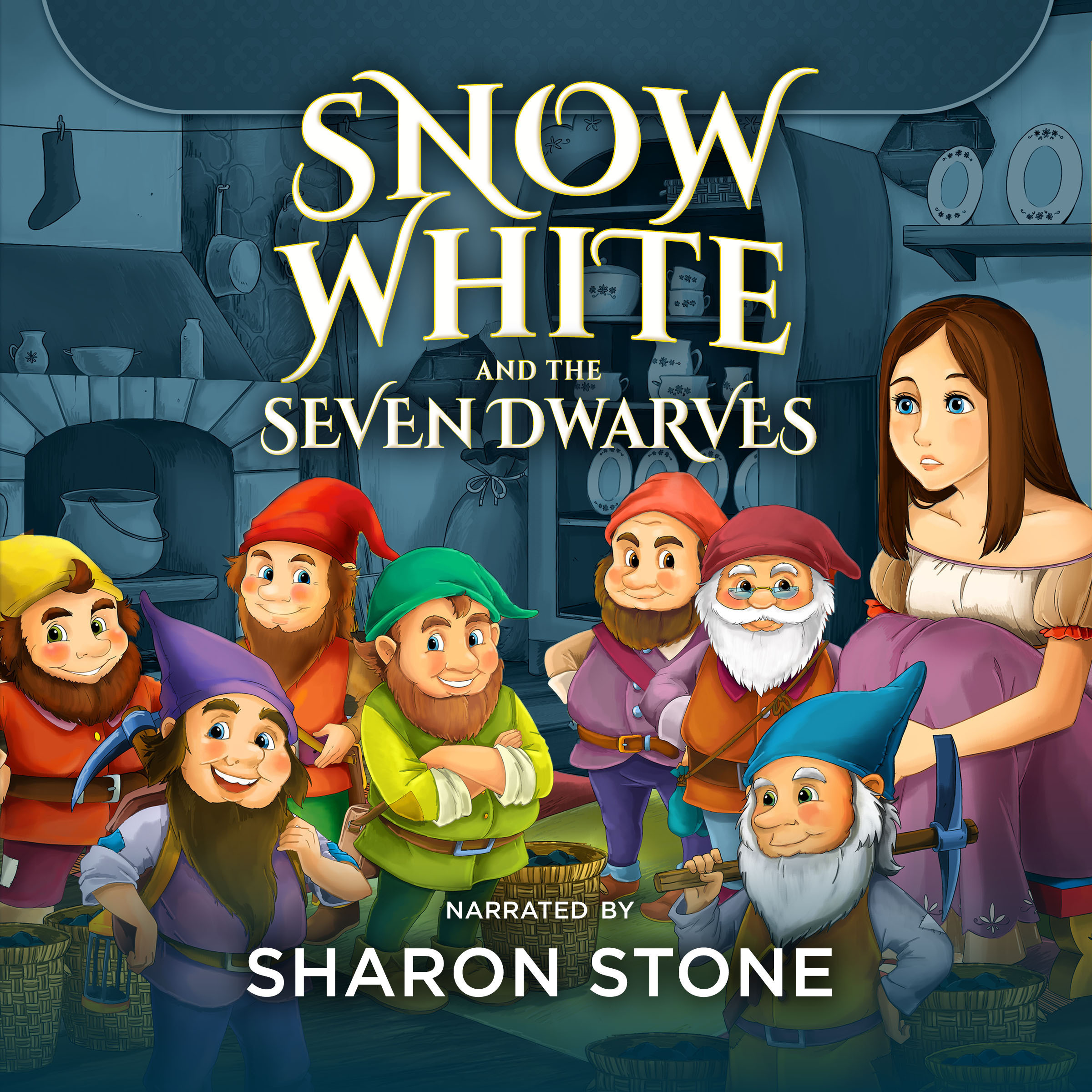 Printable Snow White and the Seven Dwarfs Audiobook Cover Art