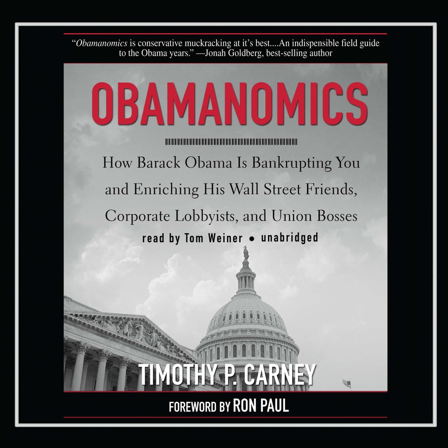 Printable Obamanomics: How Barack Obama Is Bankrupting You and Enriching His Wall Street Friends, Corporate Lobbyists, and Union Bosses Audiobook Cover Art