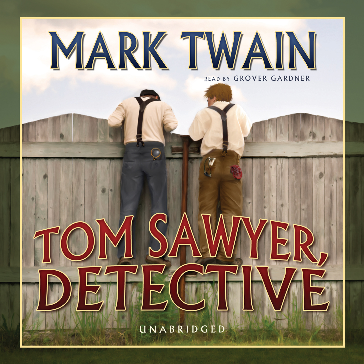 Printable Tom Sawyer, Detective Audiobook Cover Art