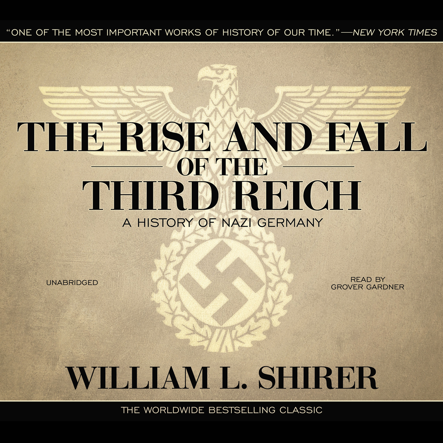 Printable The Rise and Fall of the Third Reich: A History of Nazi Germany Audiobook Cover Art