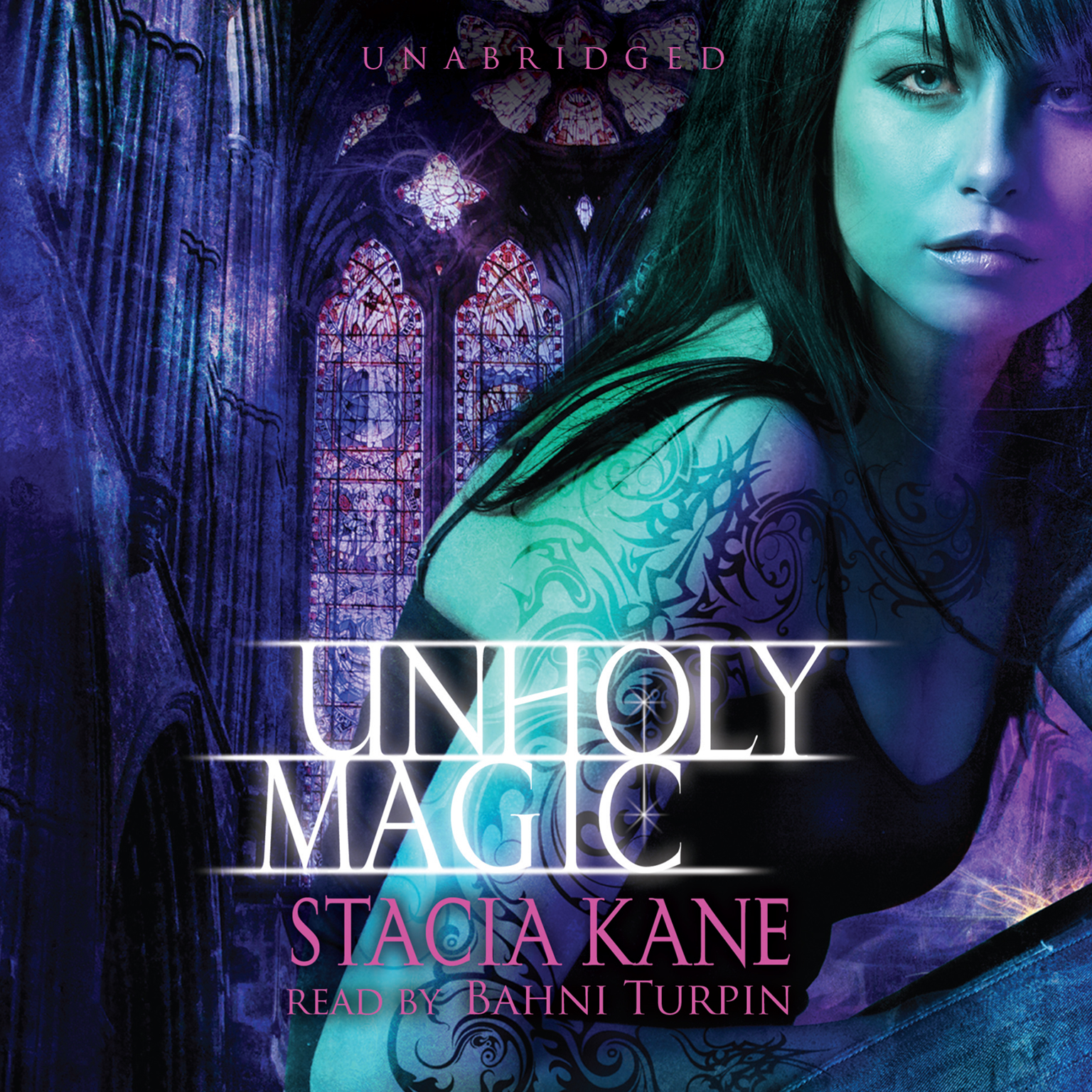 Printable Unholy Magic Audiobook Cover Art
