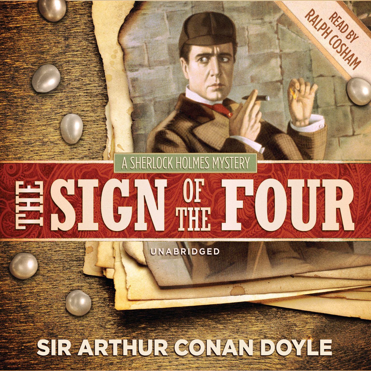Printable The Sign of the Four Audiobook Cover Art