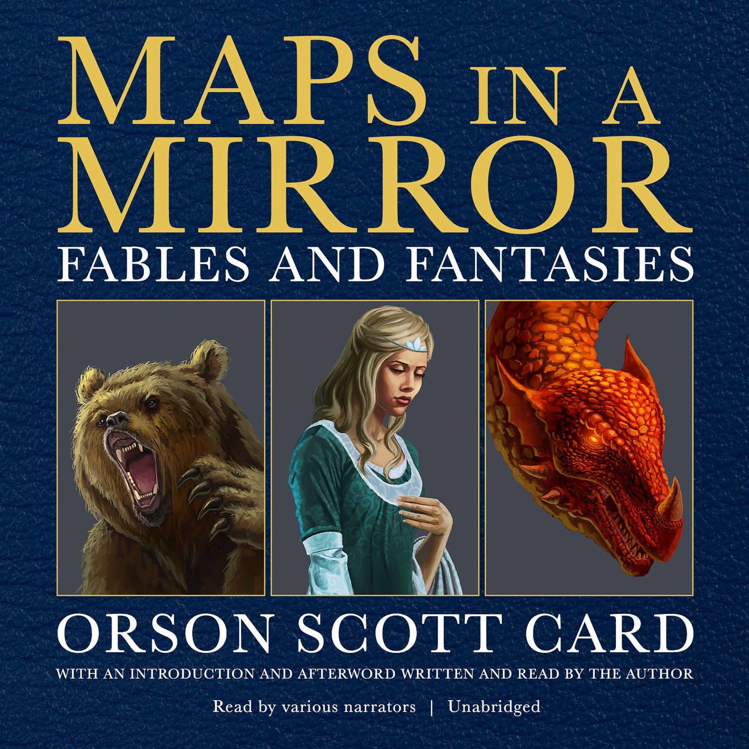 Printable Maps in a Mirror: Fables and Fantasies Audiobook Cover Art