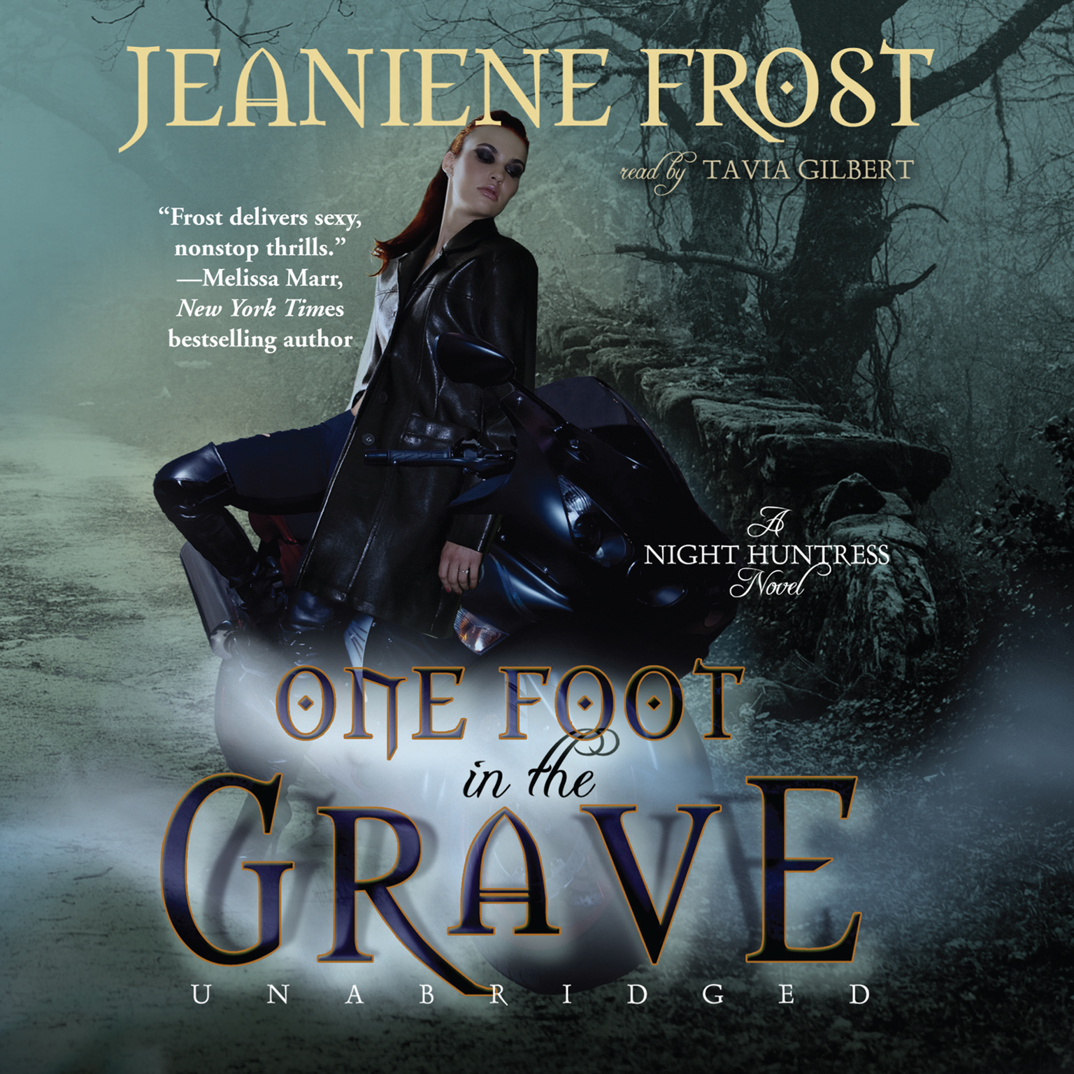 Printable One Foot in the Grave: A Night Huntress Novel Audiobook Cover Art