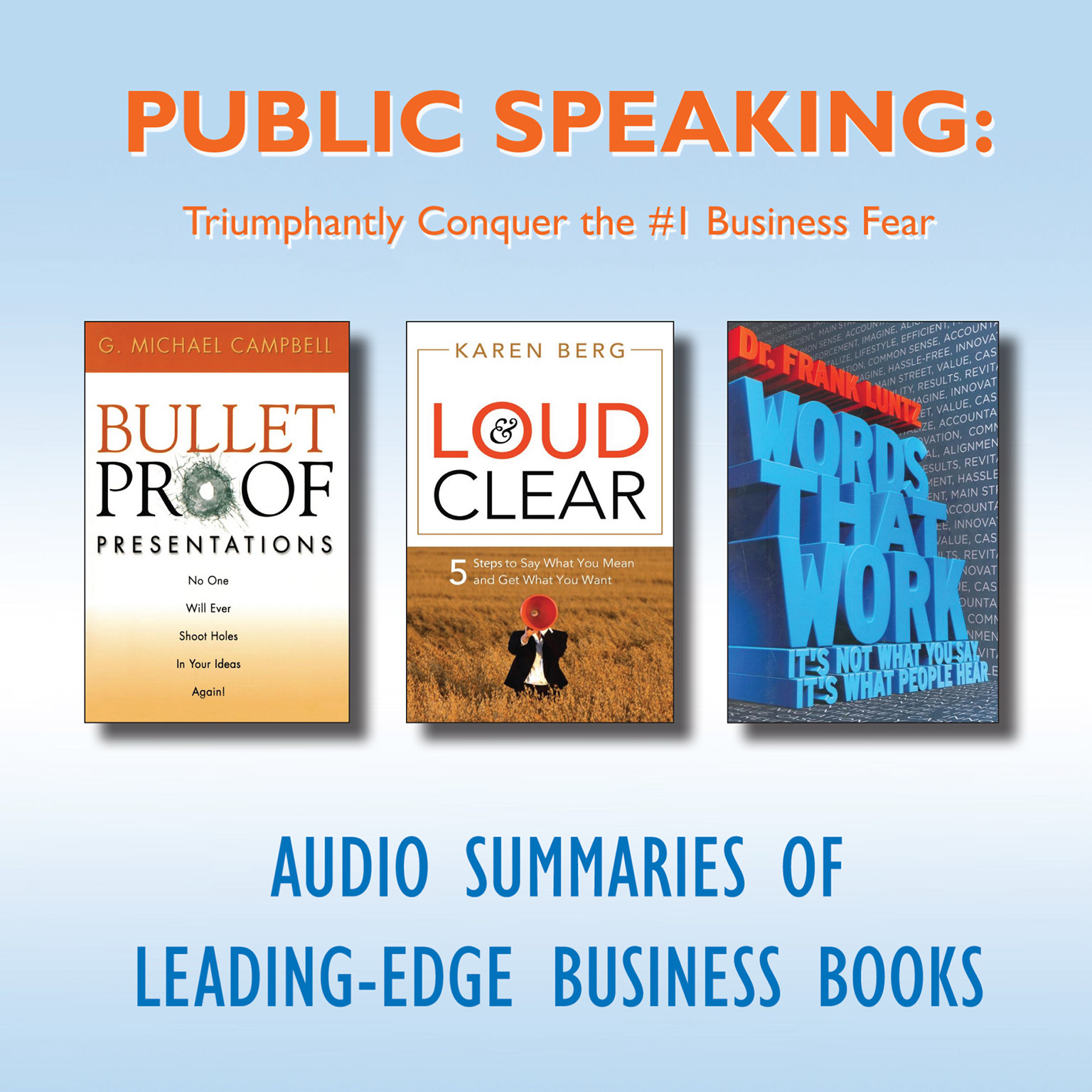 Printable Public Speaking: Triumphantly Conquer the #1 Business Fear Audiobook Cover Art