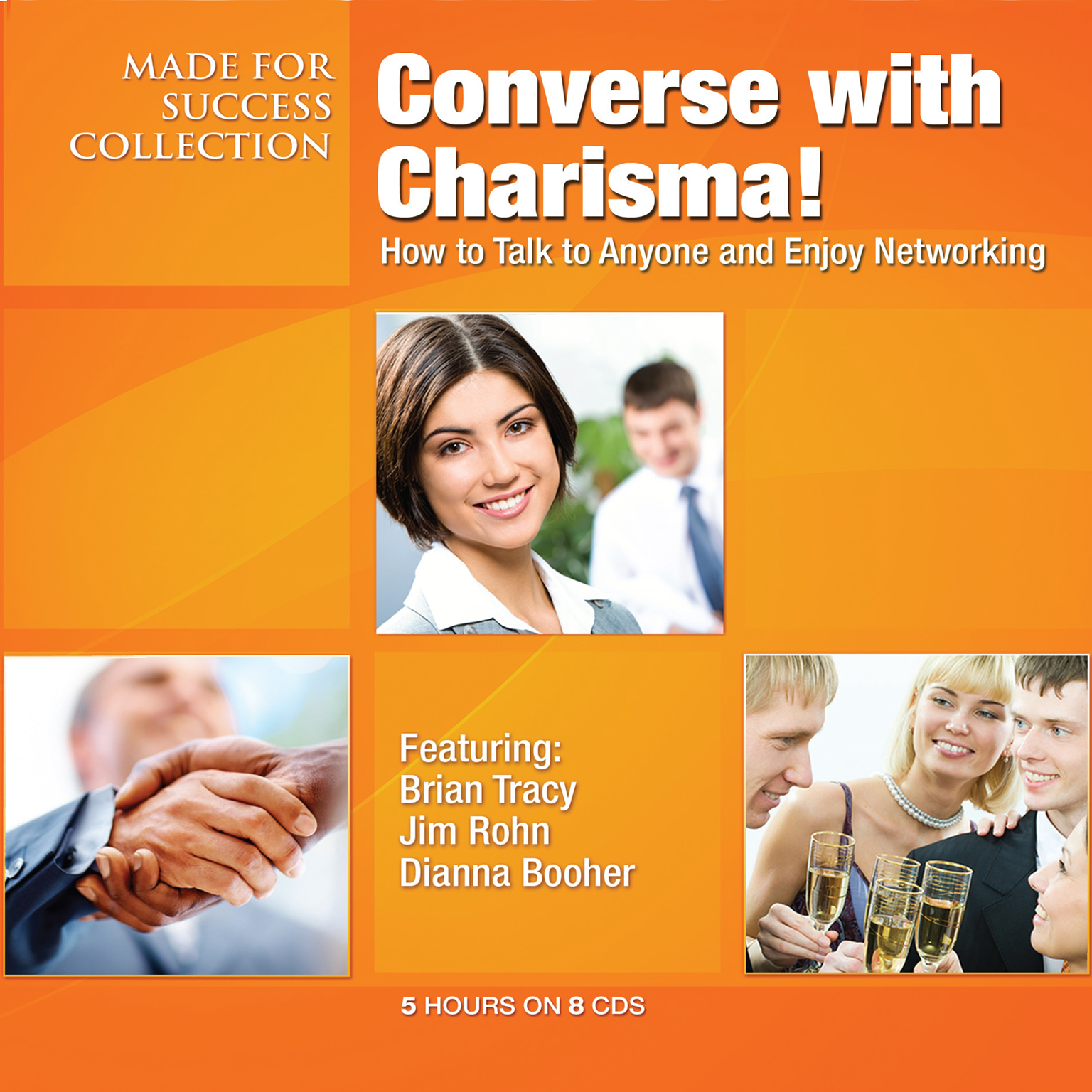 Printable Converse with Charisma!: How to Talk to Anyone and Enjoy Networking Audiobook Cover Art