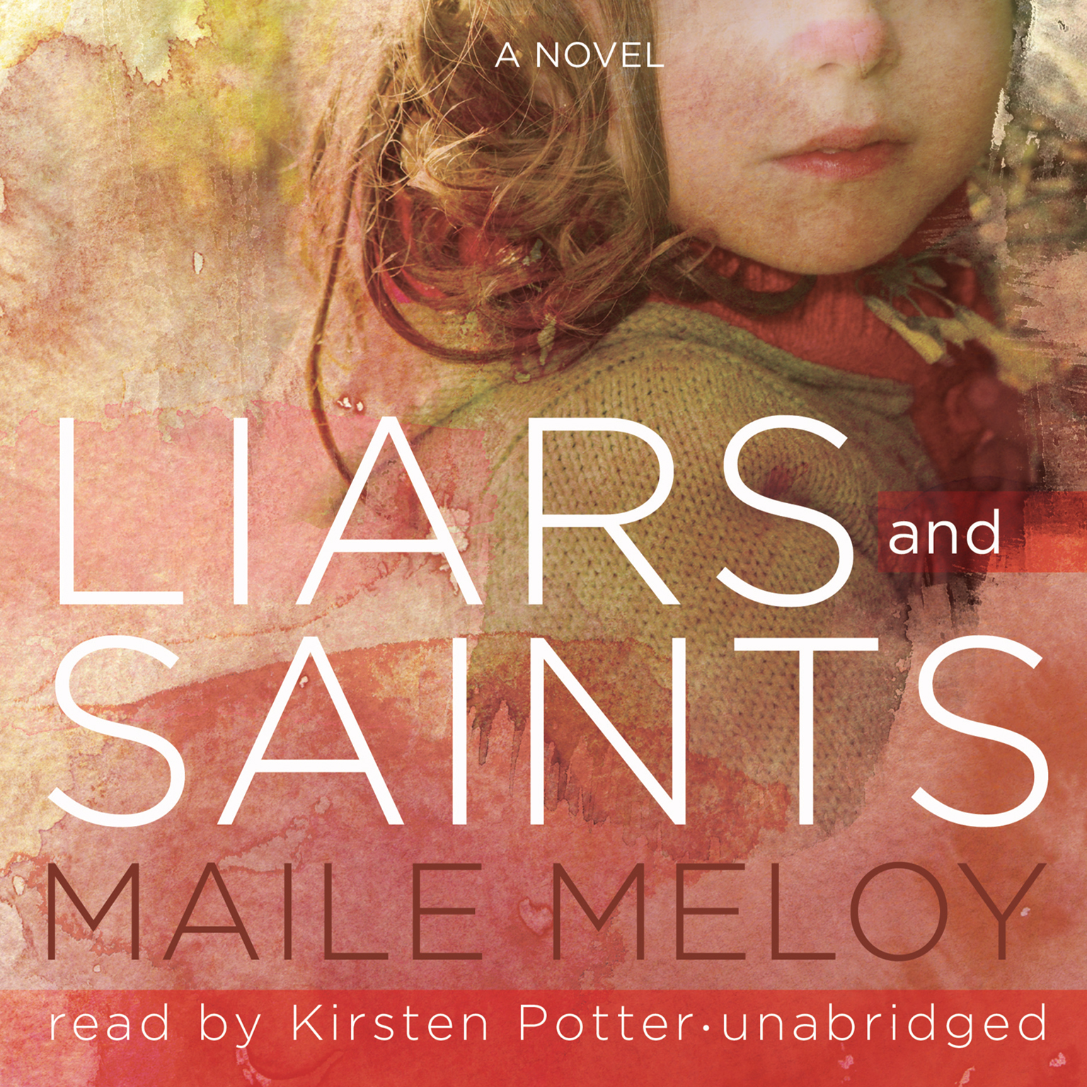 Printable Liars and Saints: A Novel Audiobook Cover Art