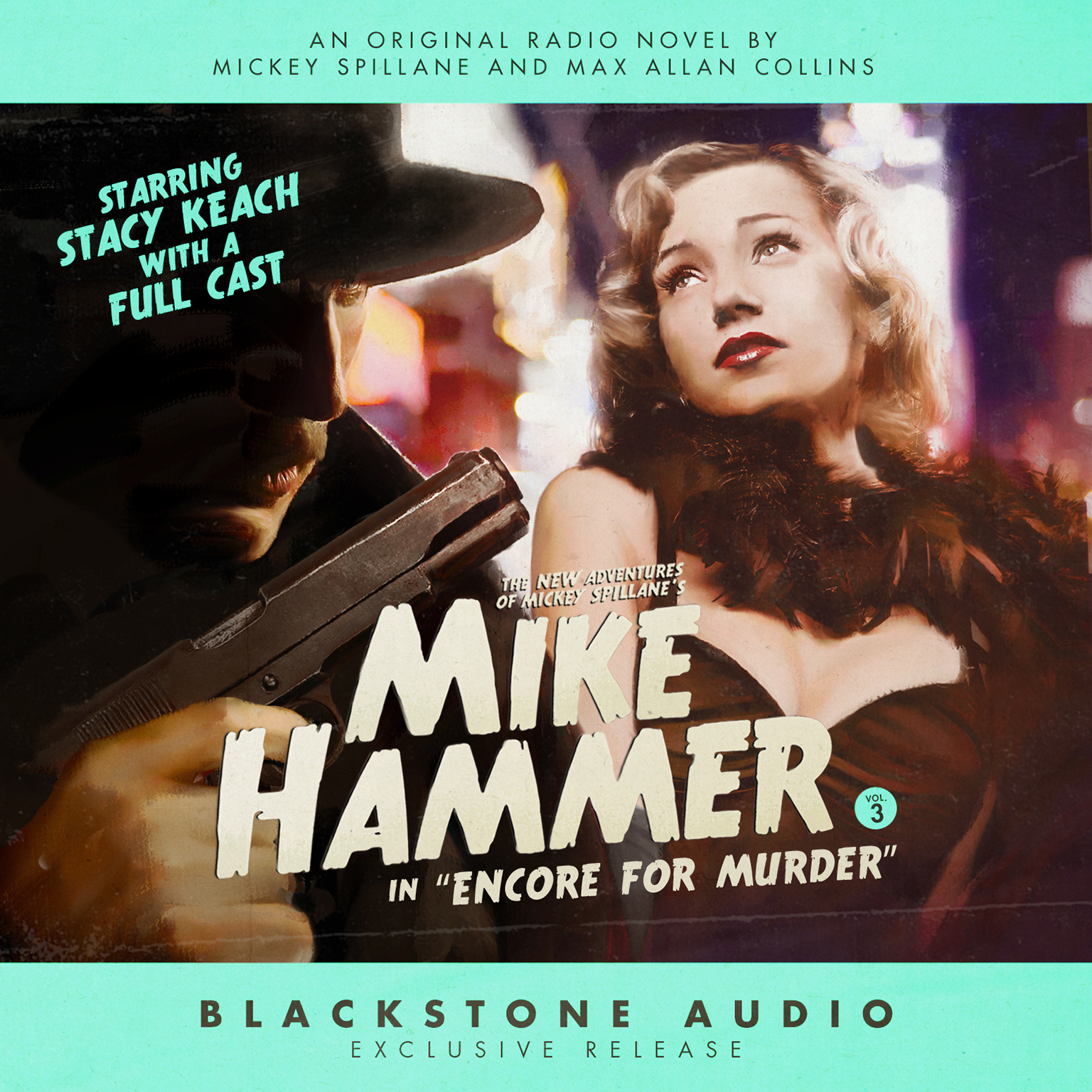 "Printable The New Adventures of Mickey Spillane's Mike Hammer, Vol. 3: ""Encore for Murder"" Audiobook Cover Art"