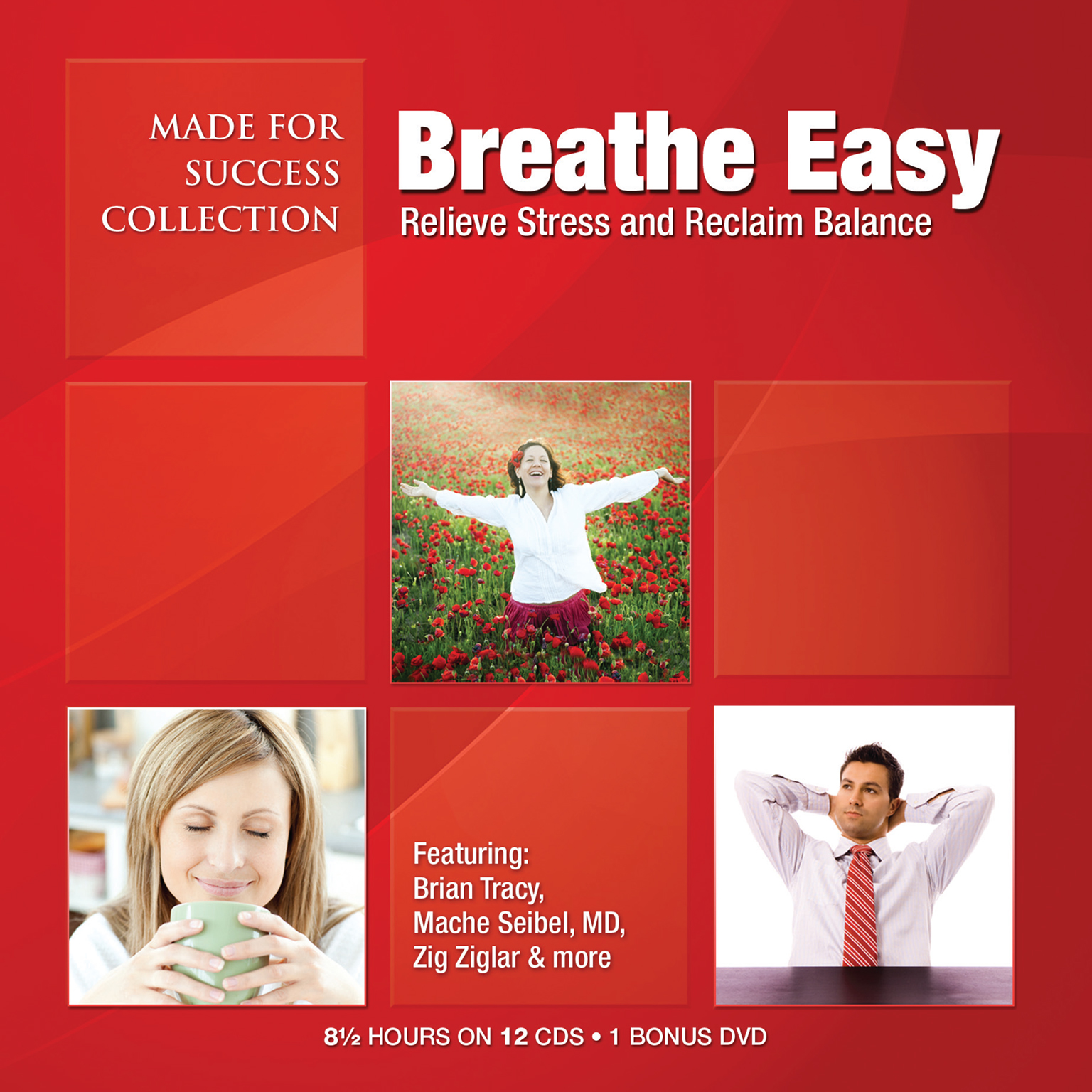 Printable Breathe Easy: Relieve Stress and Reclaim Balance Audiobook Cover Art