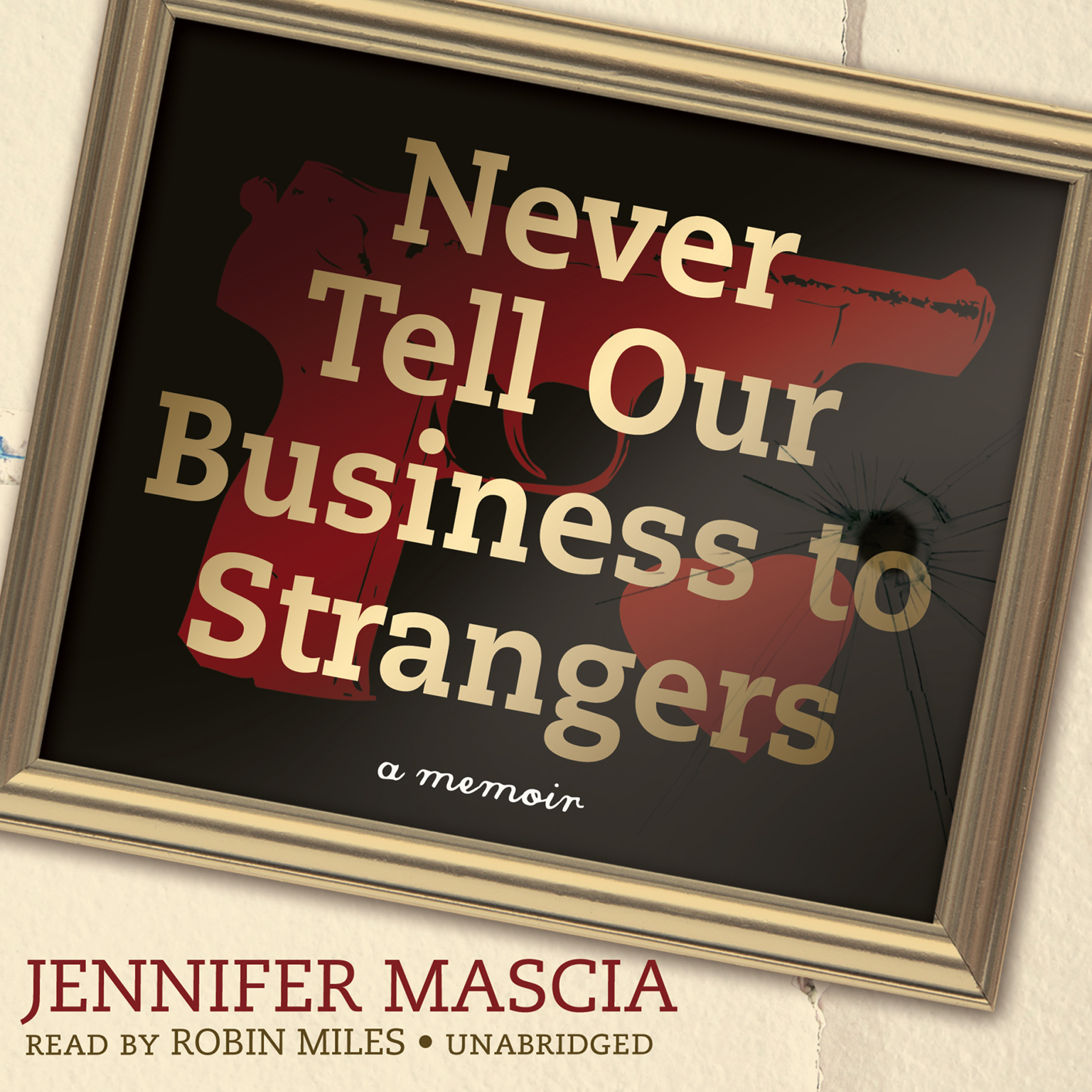 Printable Never Tell Our Business to Strangers: A Memoir Audiobook Cover Art