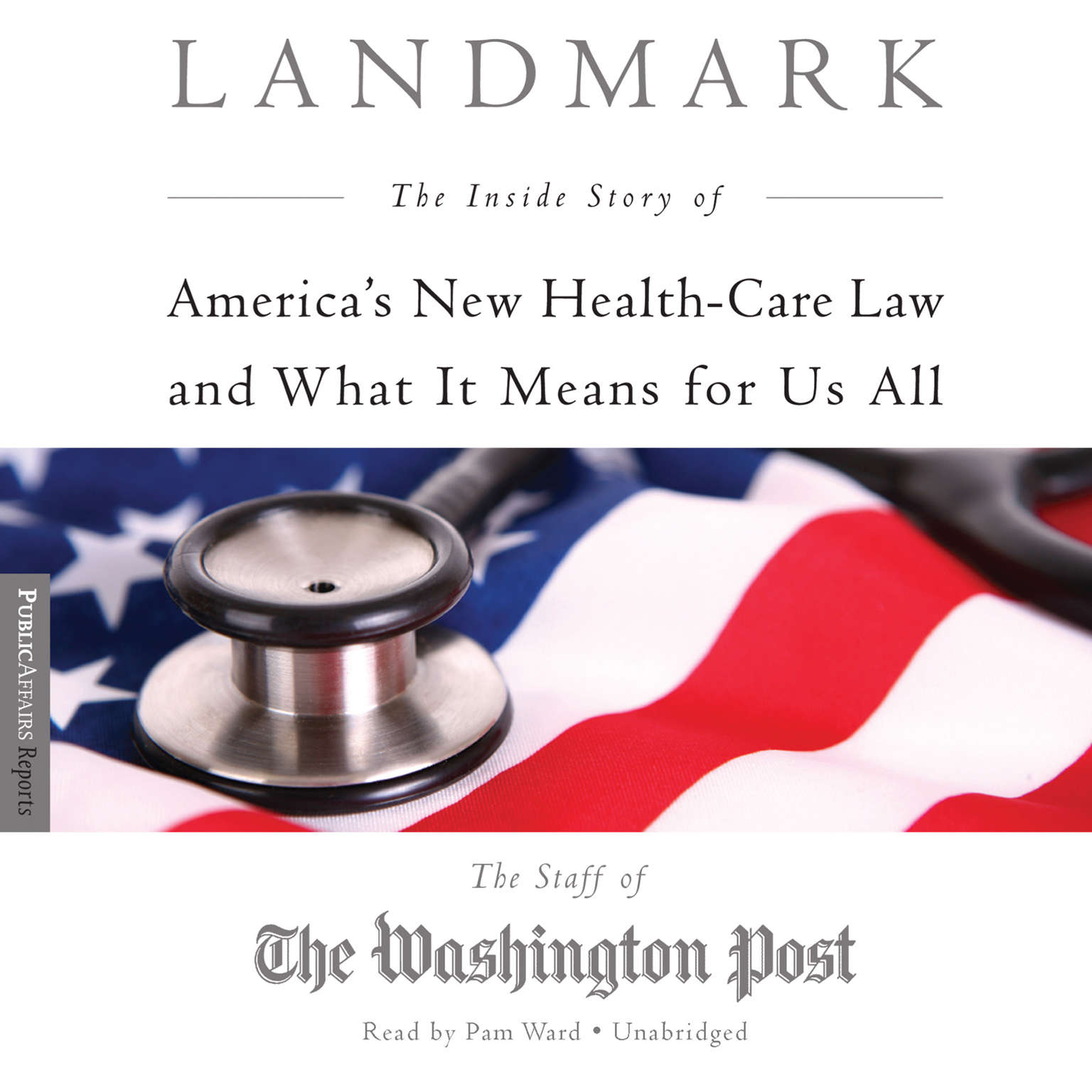Printable Landmark: The Inside Story of America's New Health Care Law and What It Means for Us All Audiobook Cover Art