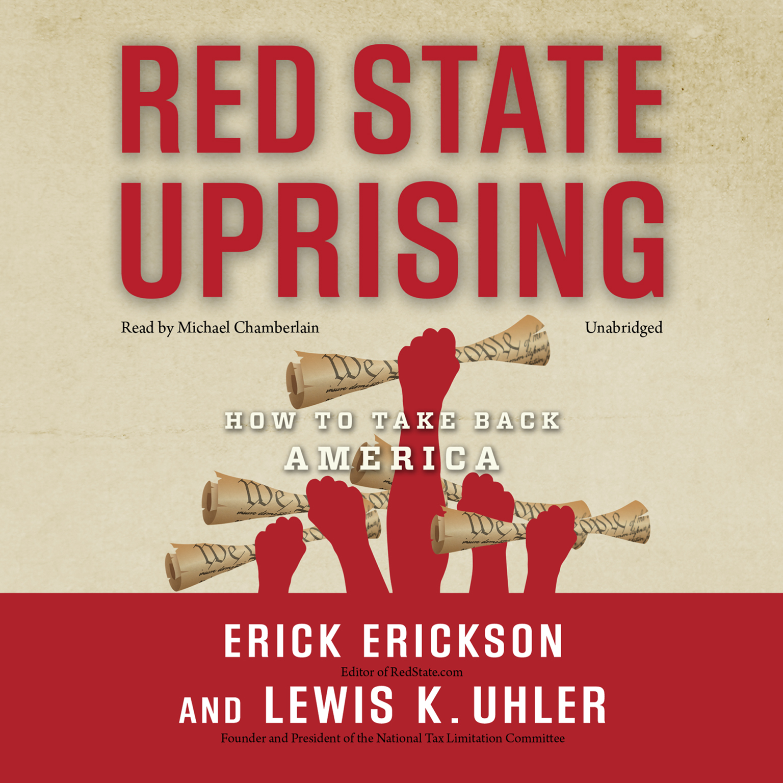 Printable Red State Uprising: How to Take Back America Audiobook Cover Art