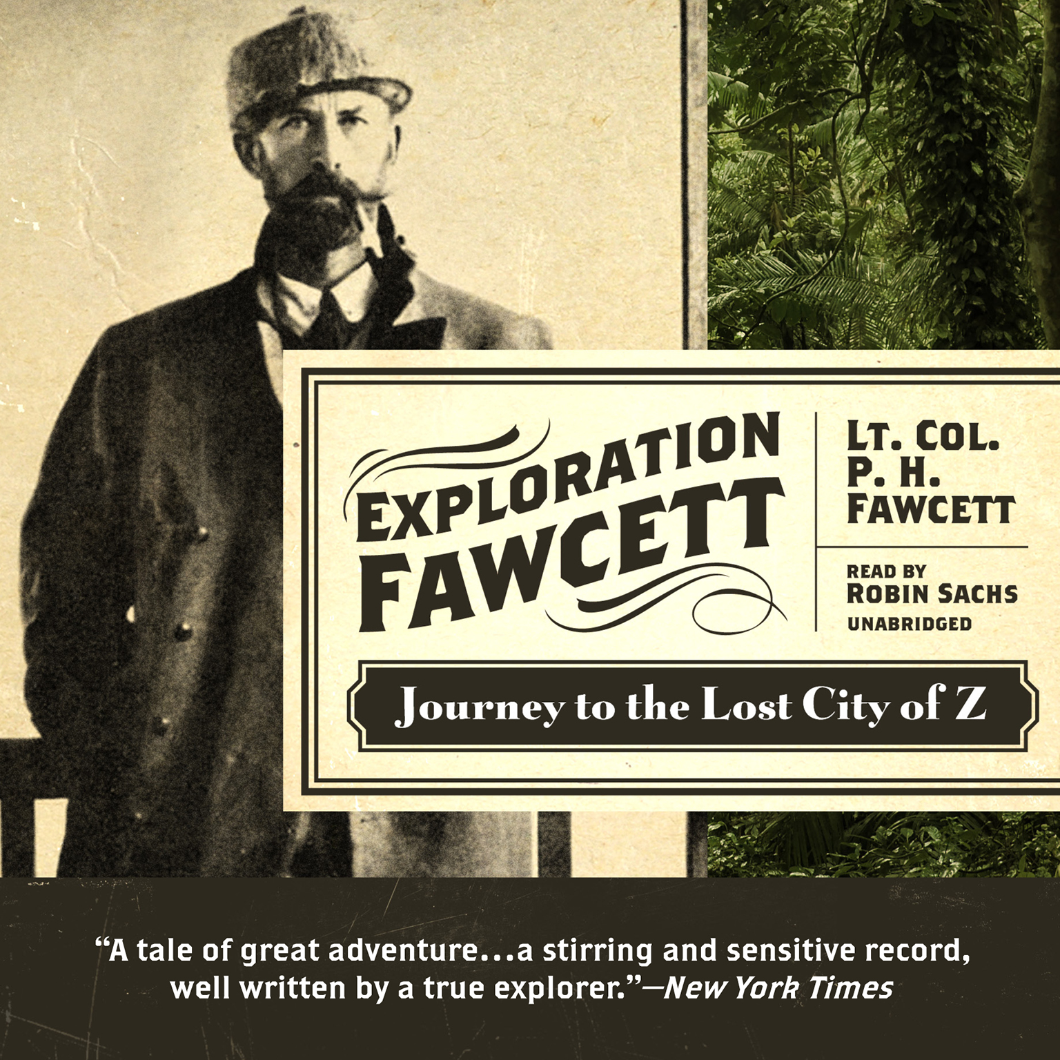 Printable Exploration Fawcett: Journey to the Lost City of Z Audiobook Cover Art