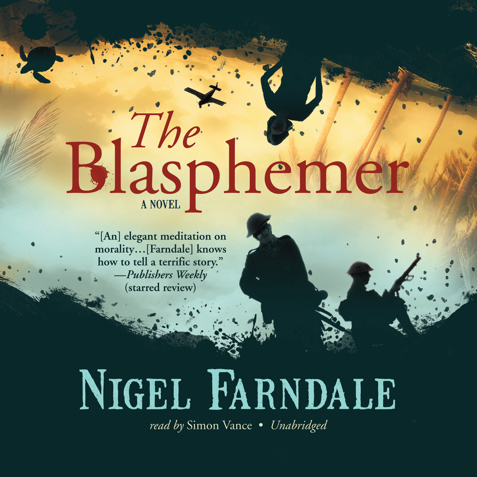 Printable The Blasphemer Audiobook Cover Art