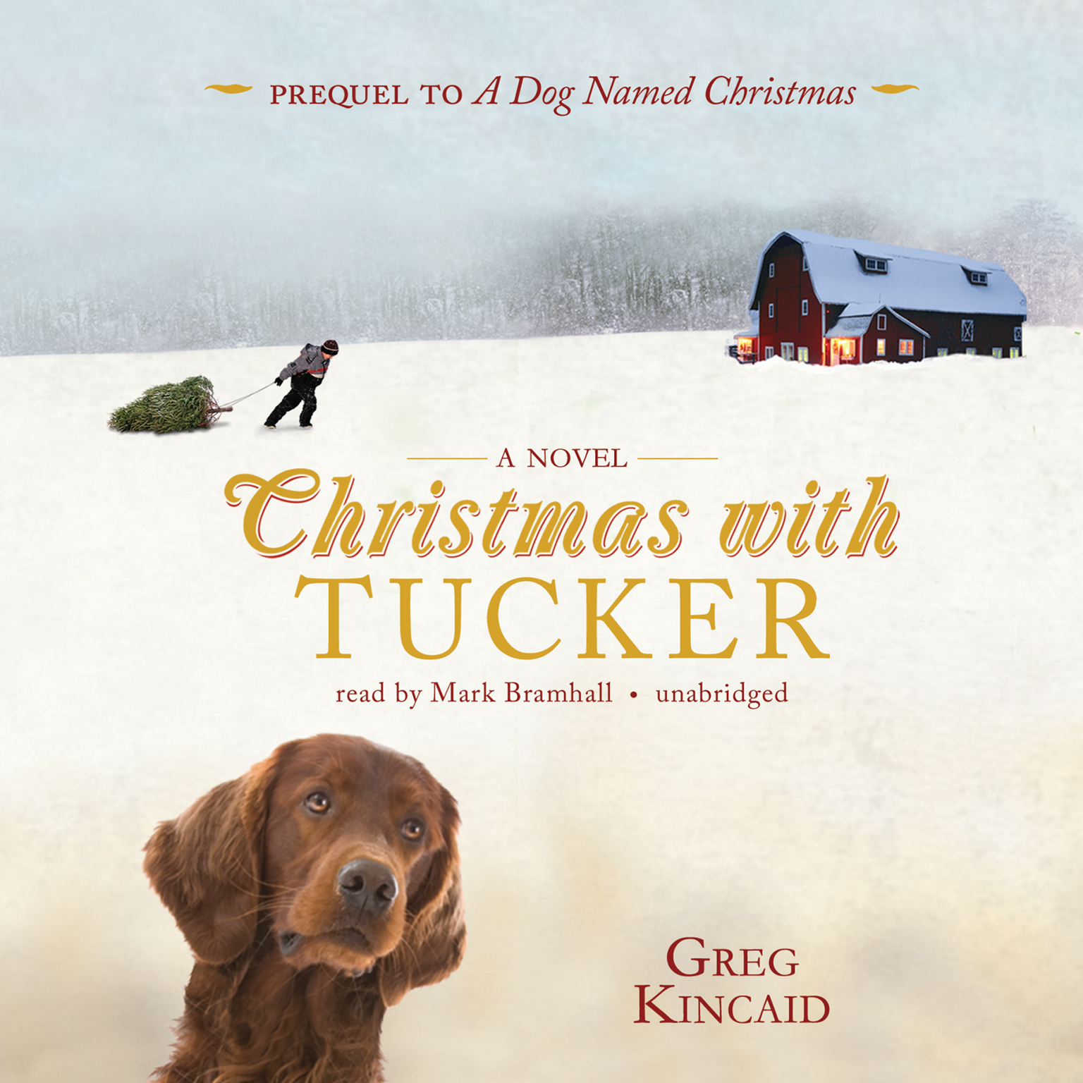 Printable Christmas with Tucker Audiobook Cover Art