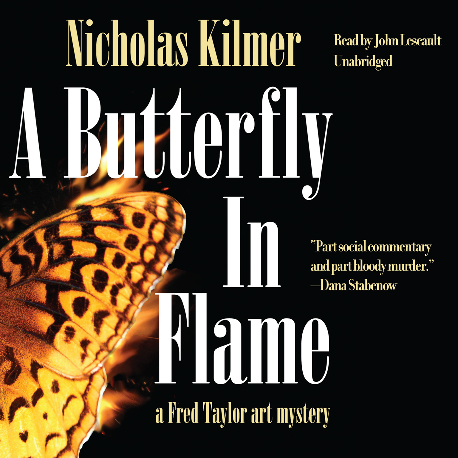 Printable A Butterfly in Flame: A Fred Taylor Art Mystery Audiobook Cover Art