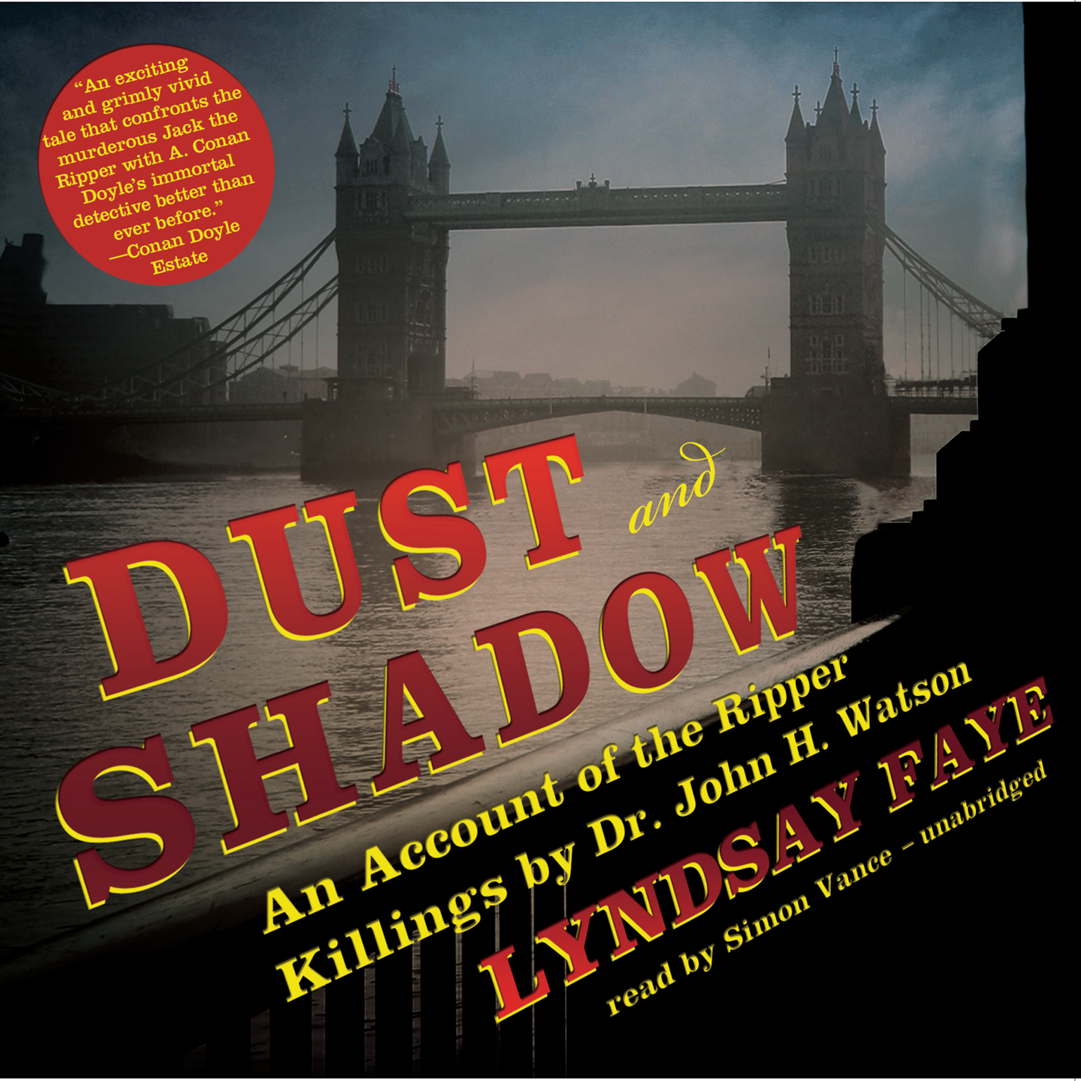 Printable Dust and Shadow: An Account of the Ripper Killings by Dr. John H. Watson Audiobook Cover Art
