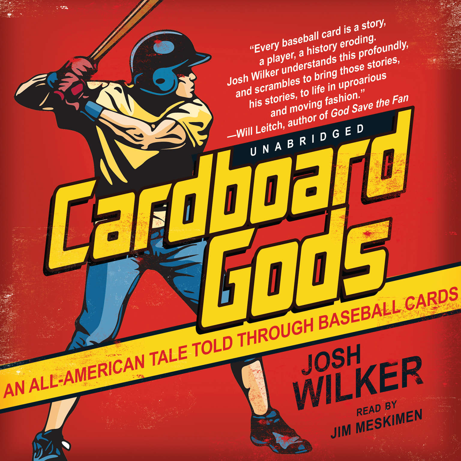 Printable Cardboard Gods: An All-American Tale Told through Baseball Cards Audiobook Cover Art