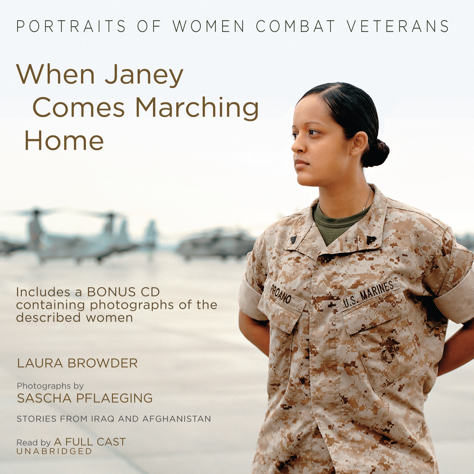 Printable When Janey Comes Marching Home: Portraits of Women Combat Veterans Audiobook Cover Art