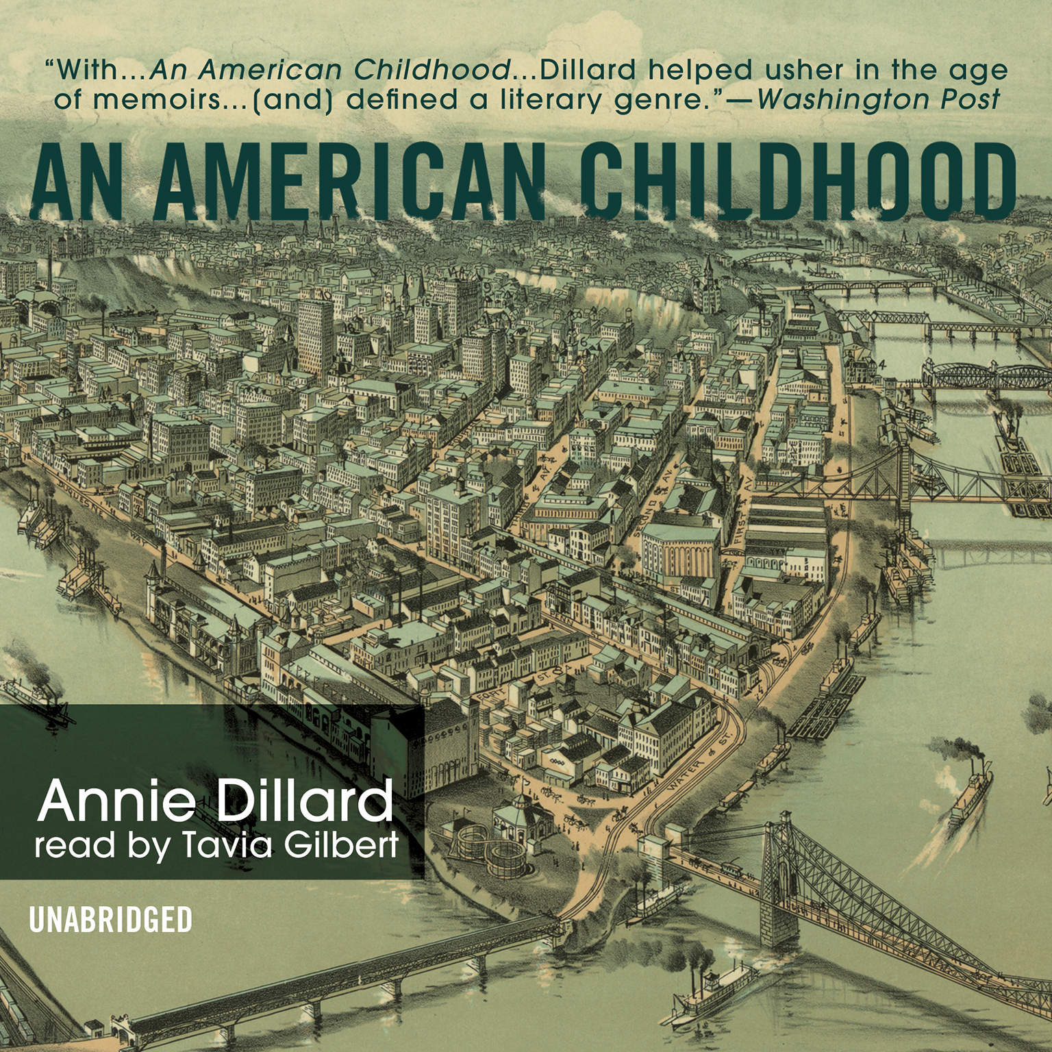 Printable An American Childhood Audiobook Cover Art
