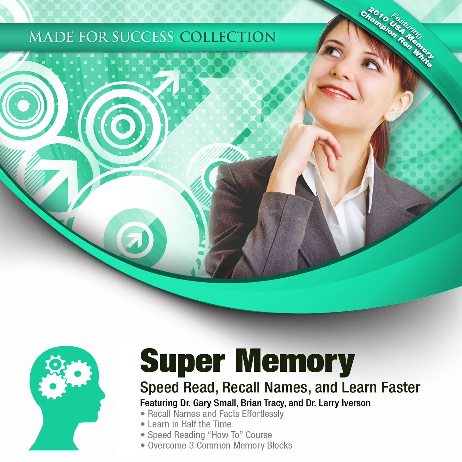 Printable Super Memory: Speed Read, Recall Names, and Learn Faster Audiobook Cover Art