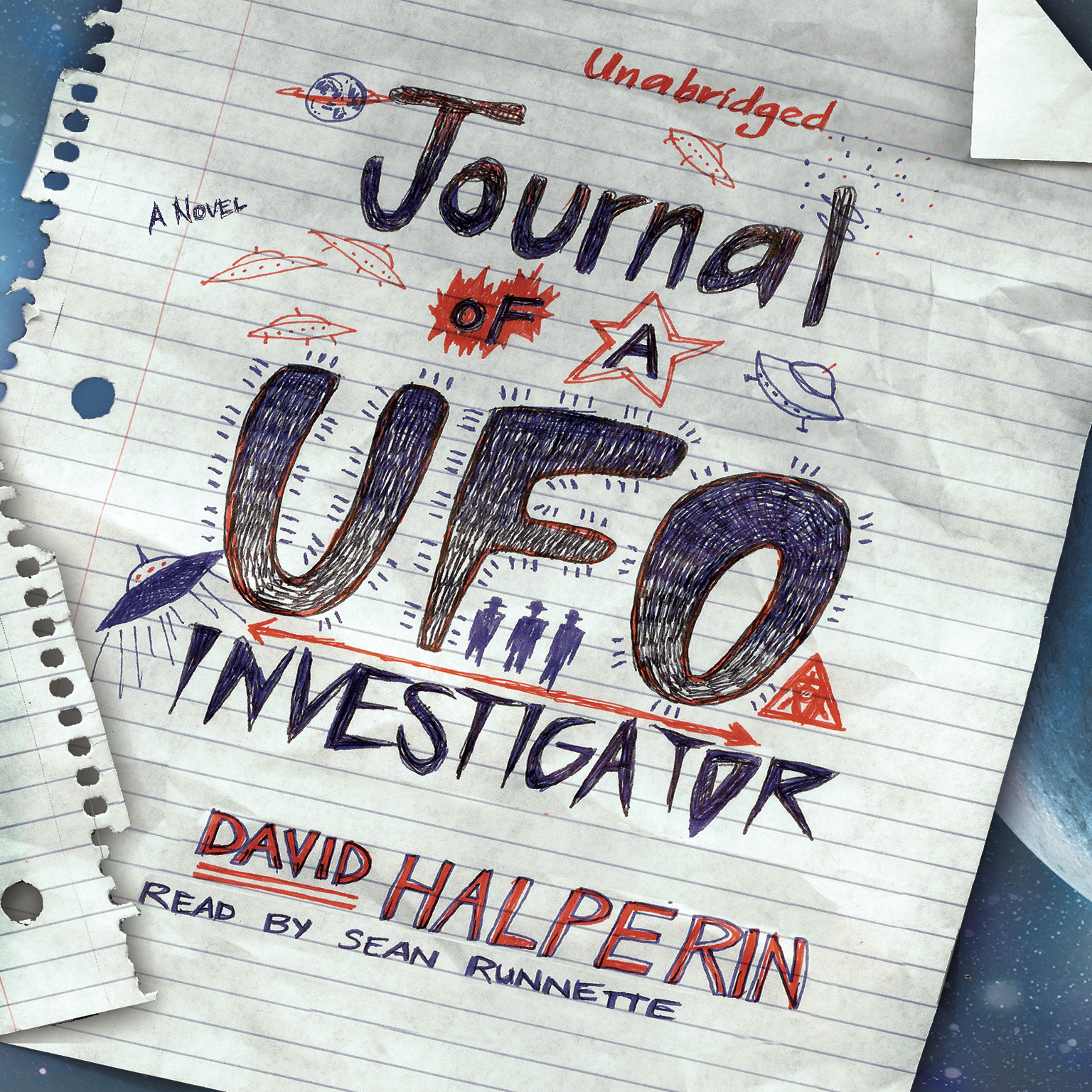 Printable Journal of a UFO Investigator: A Novel Audiobook Cover Art