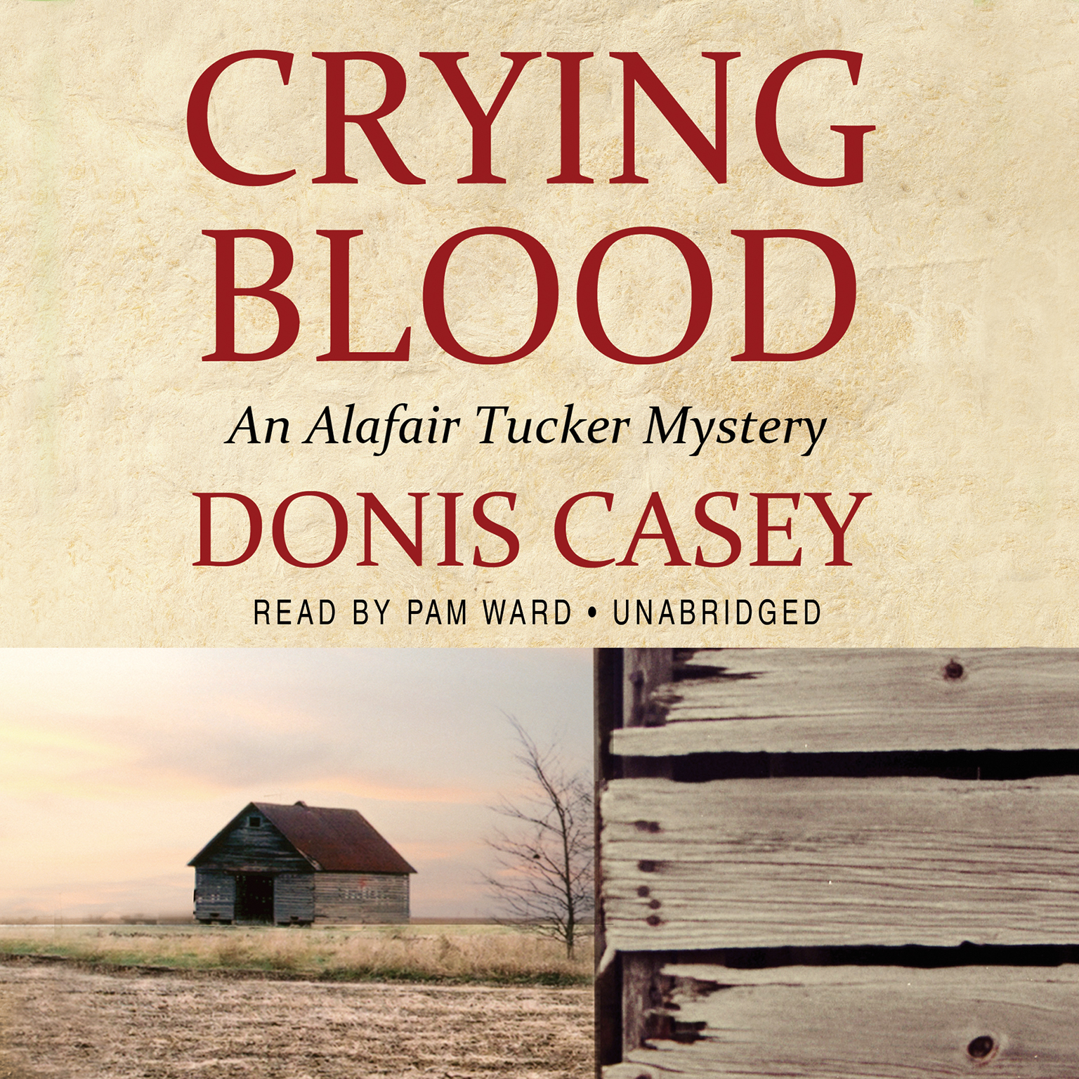 Printable Crying Blood: An Alafair Tucker Mystery Audiobook Cover Art