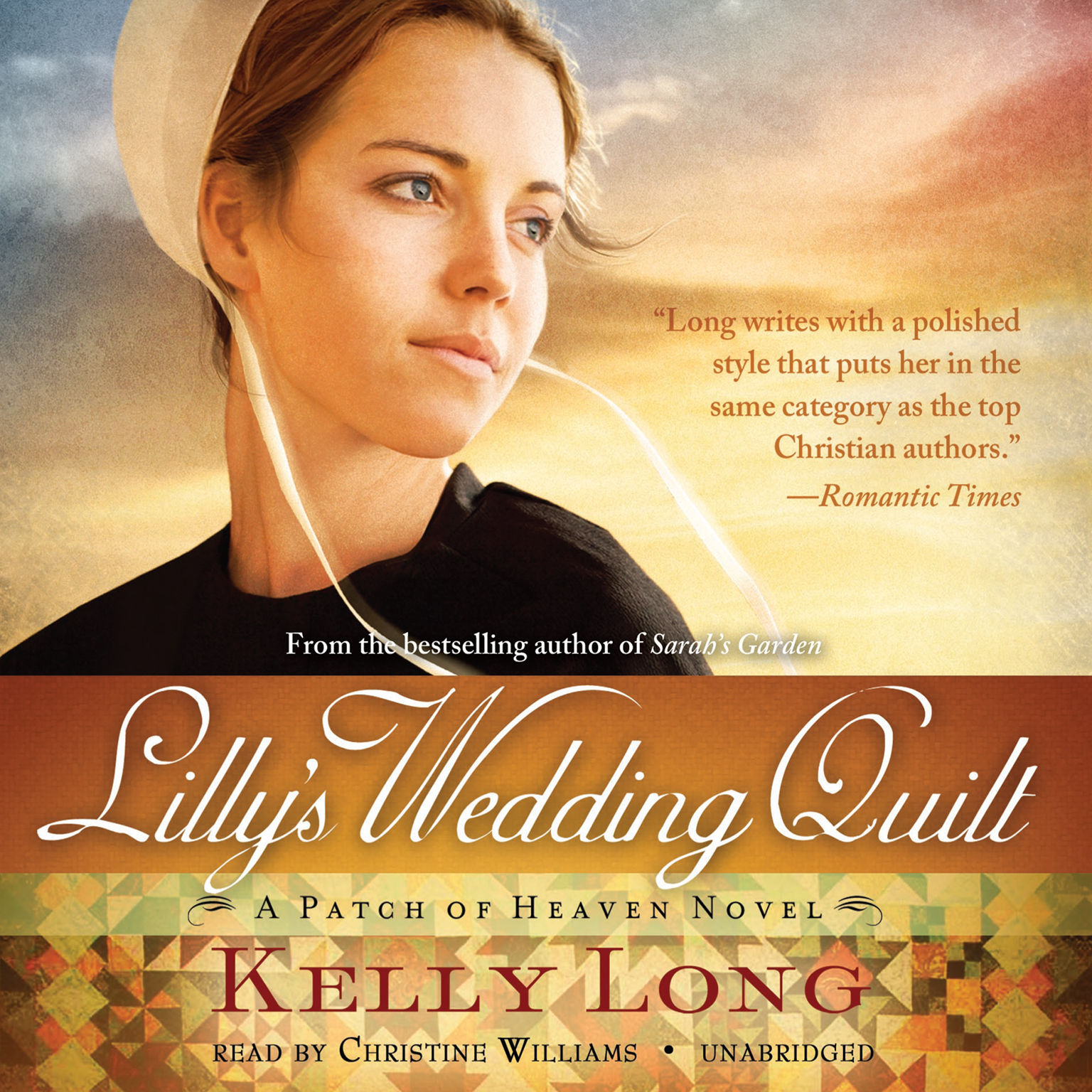 Printable Lilly's Wedding Quilt: A Patch of Heaven Novel Audiobook Cover Art