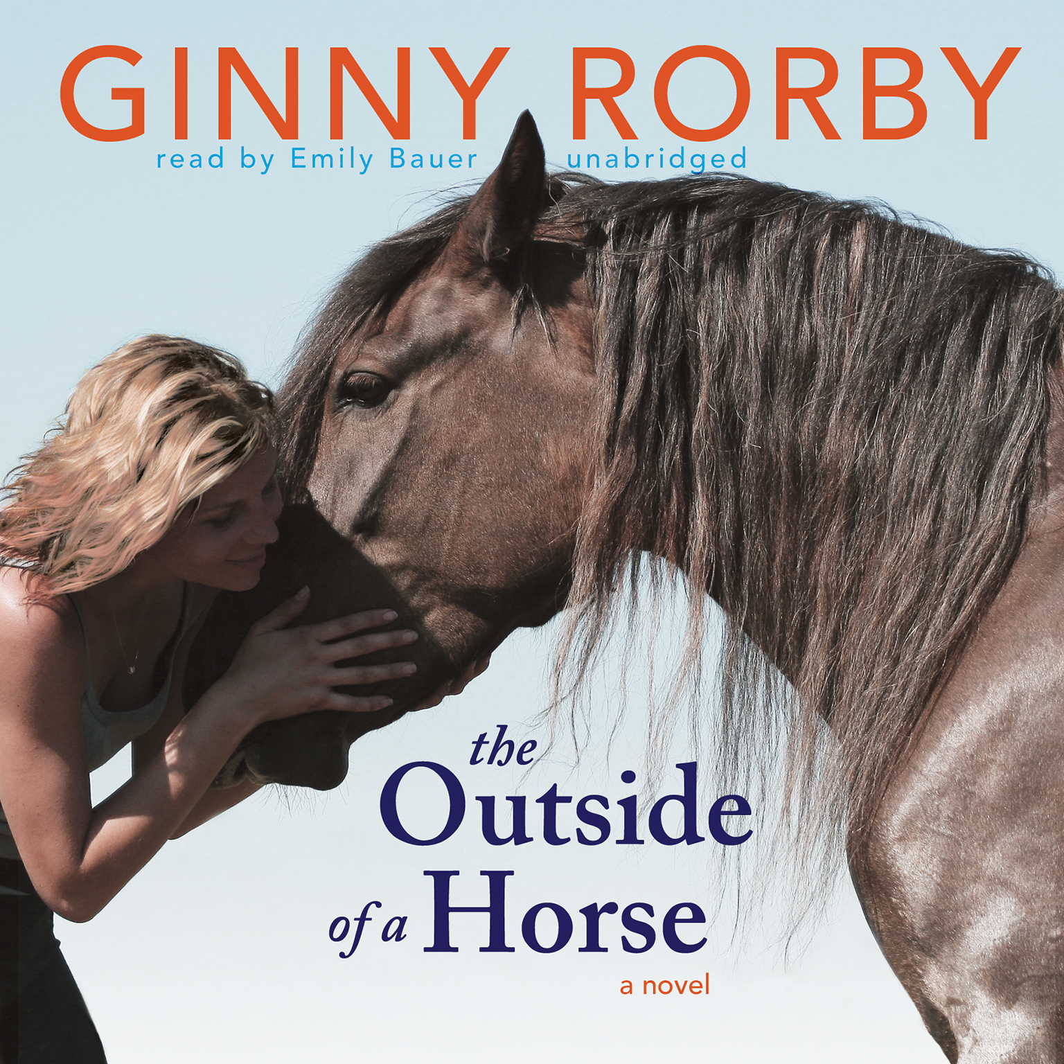 Printable The Outside of a Horse Audiobook Cover Art