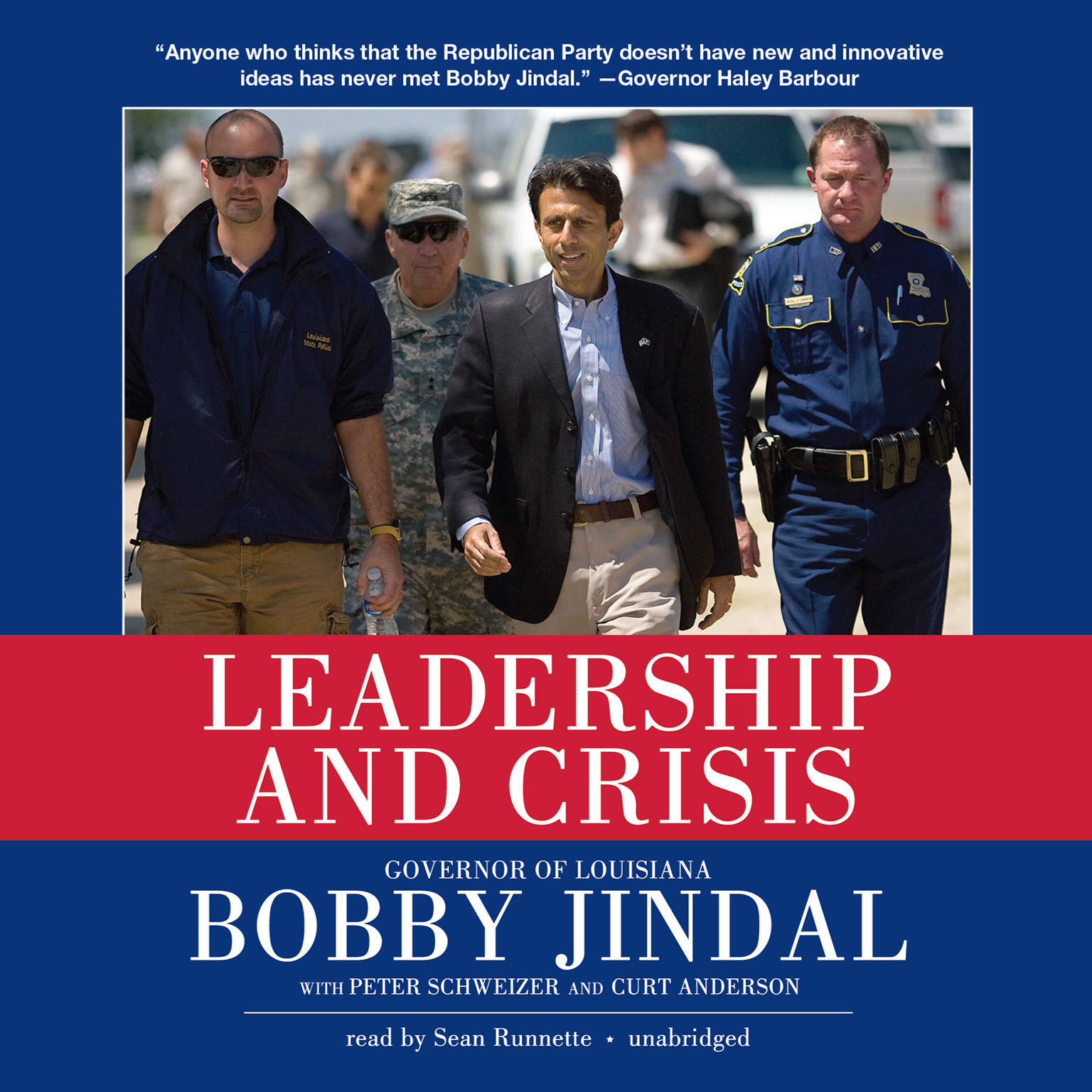 Printable Leadership and Crisis Audiobook Cover Art