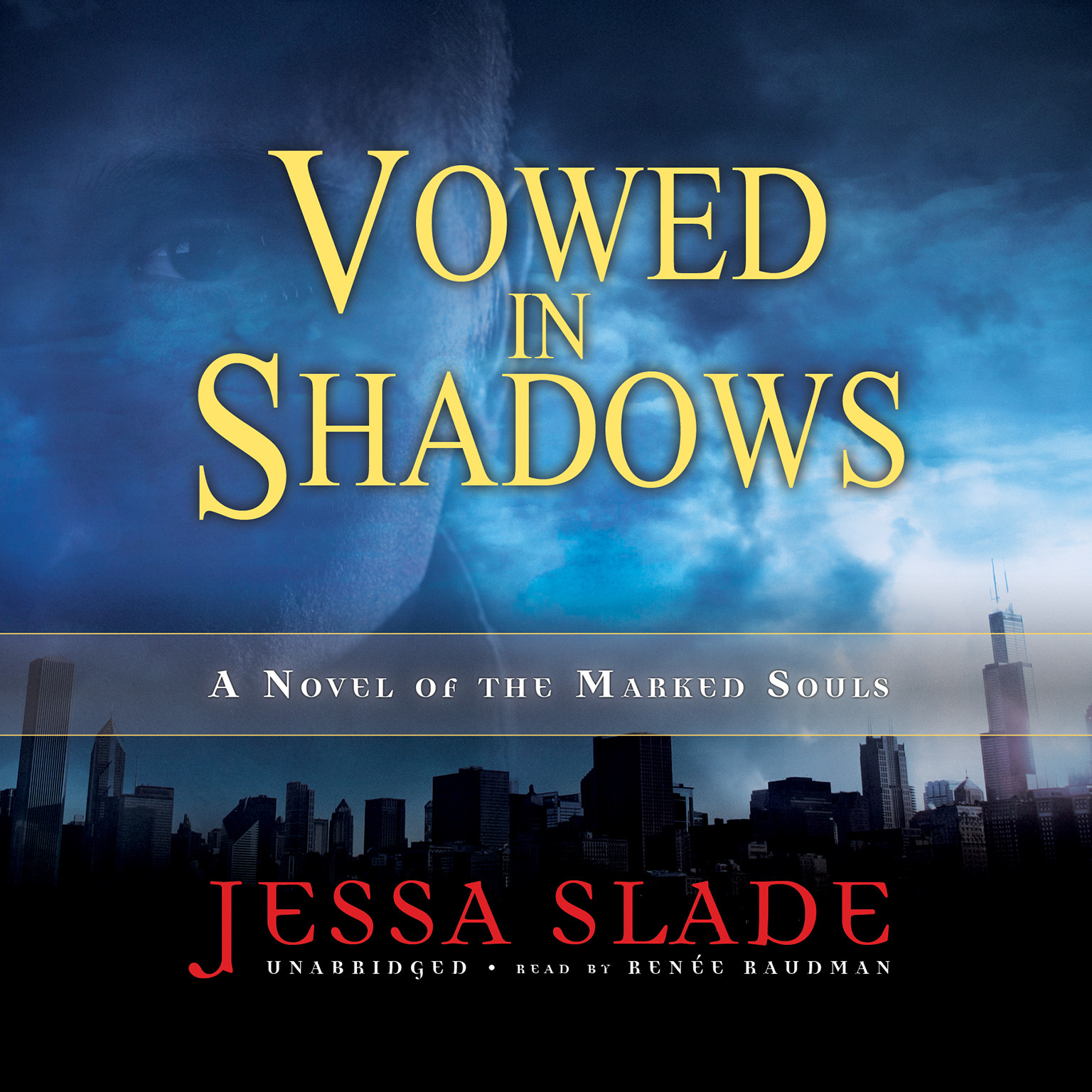Printable Vowed in Shadows: A Novel of the Marked Souls Audiobook Cover Art