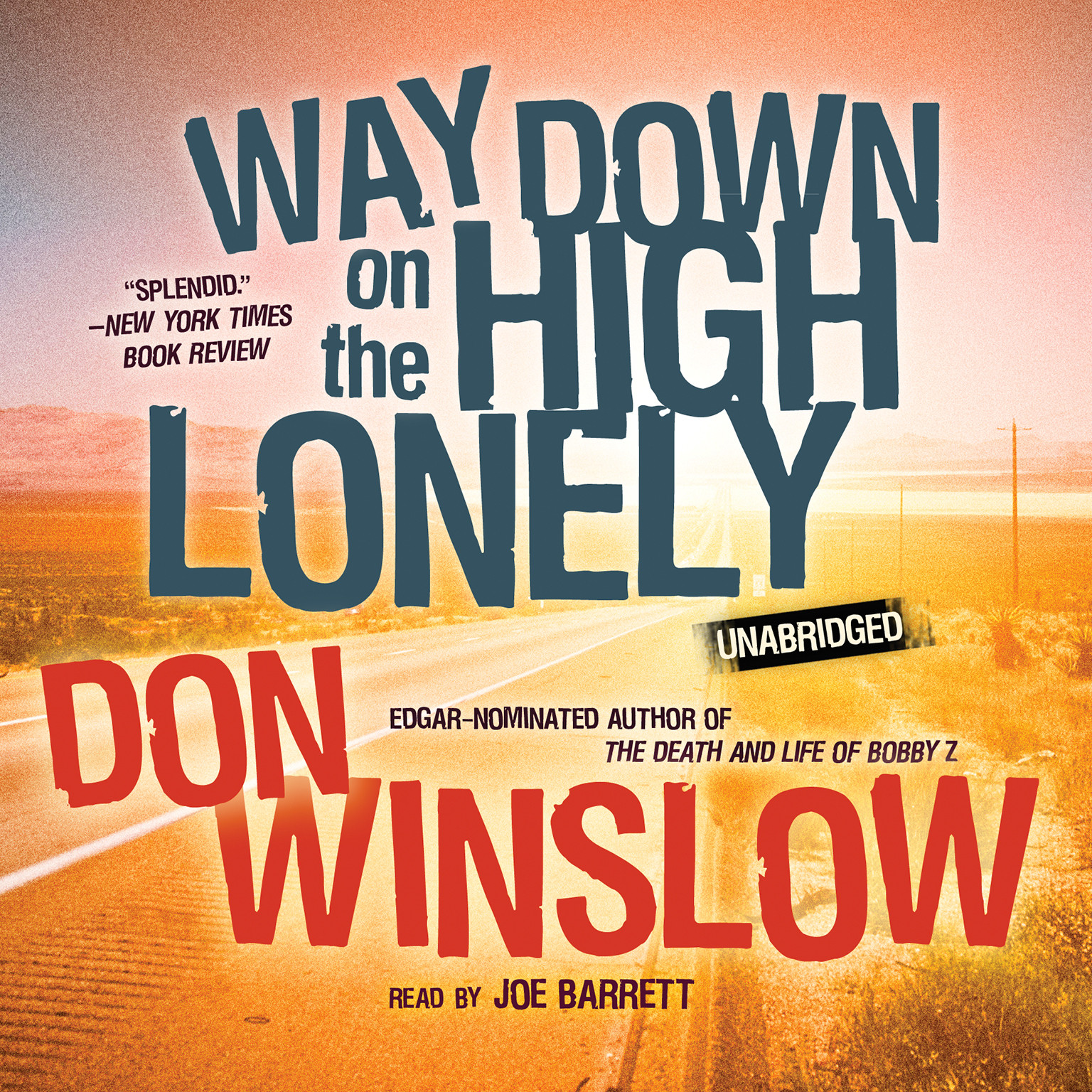 Printable Way Down on the High Lonely Audiobook Cover Art