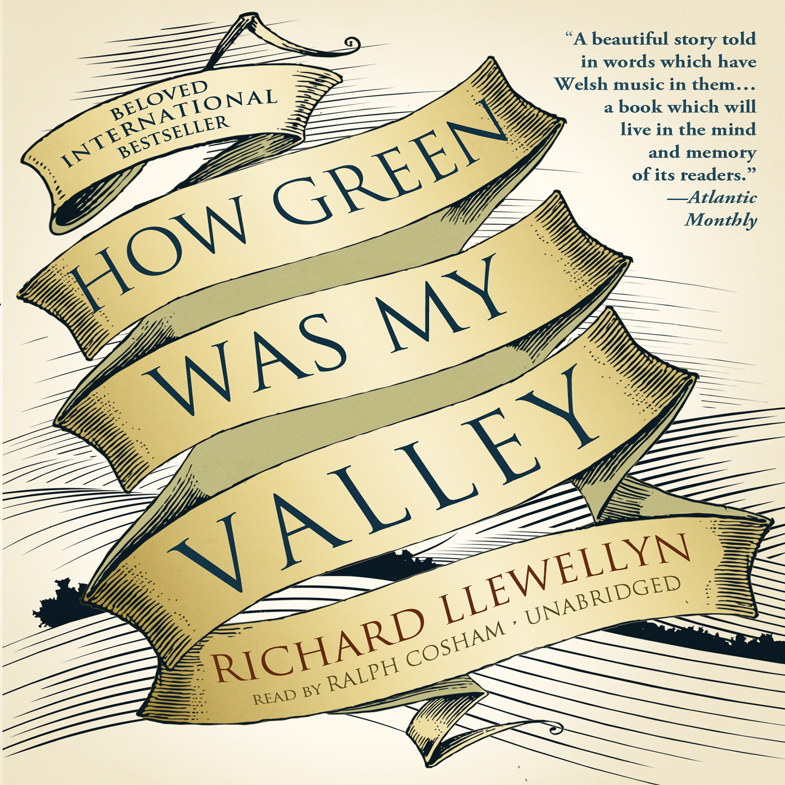 Printable How Green Was My Valley Audiobook Cover Art