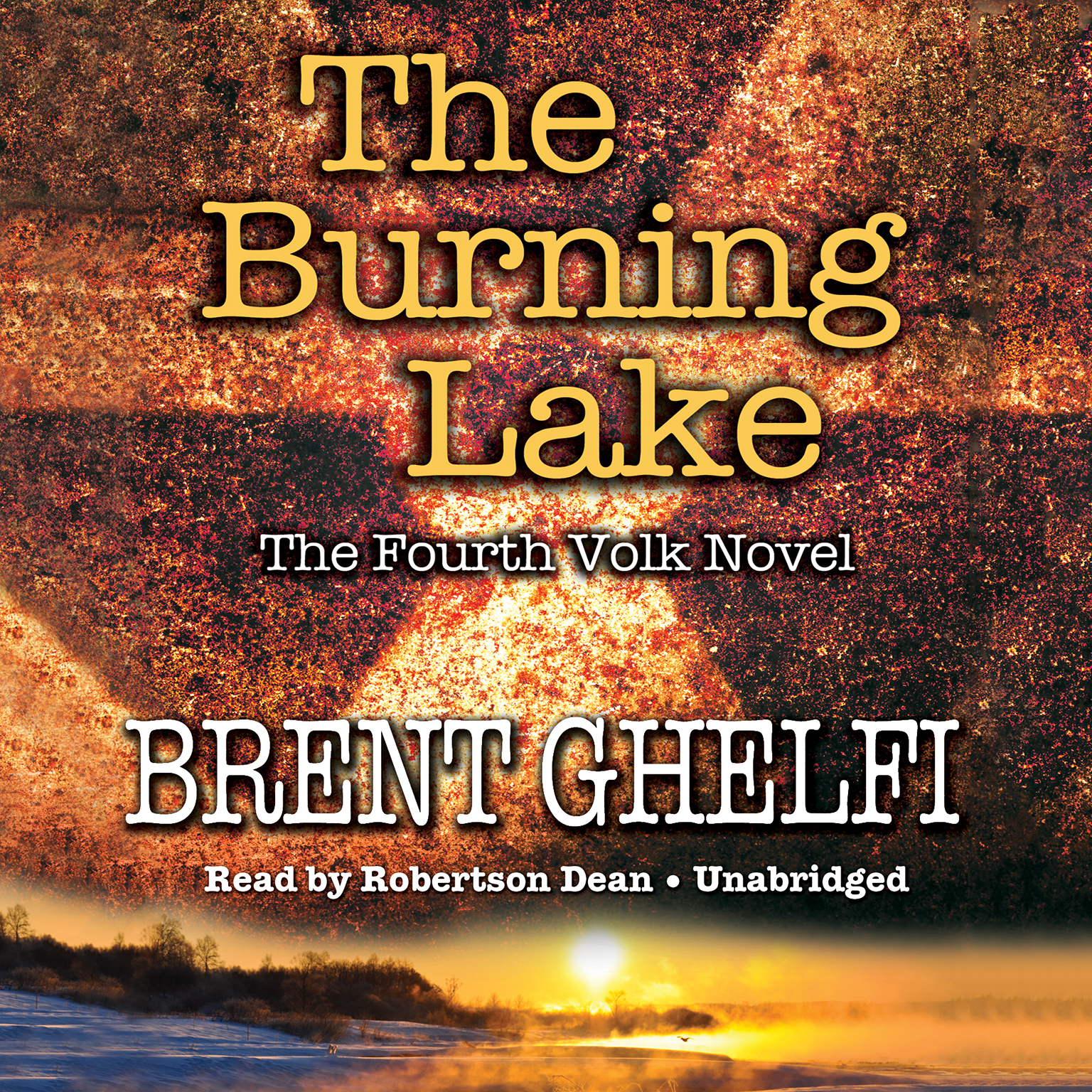 Printable The Burning Lake: A Volk Thriller Audiobook Cover Art