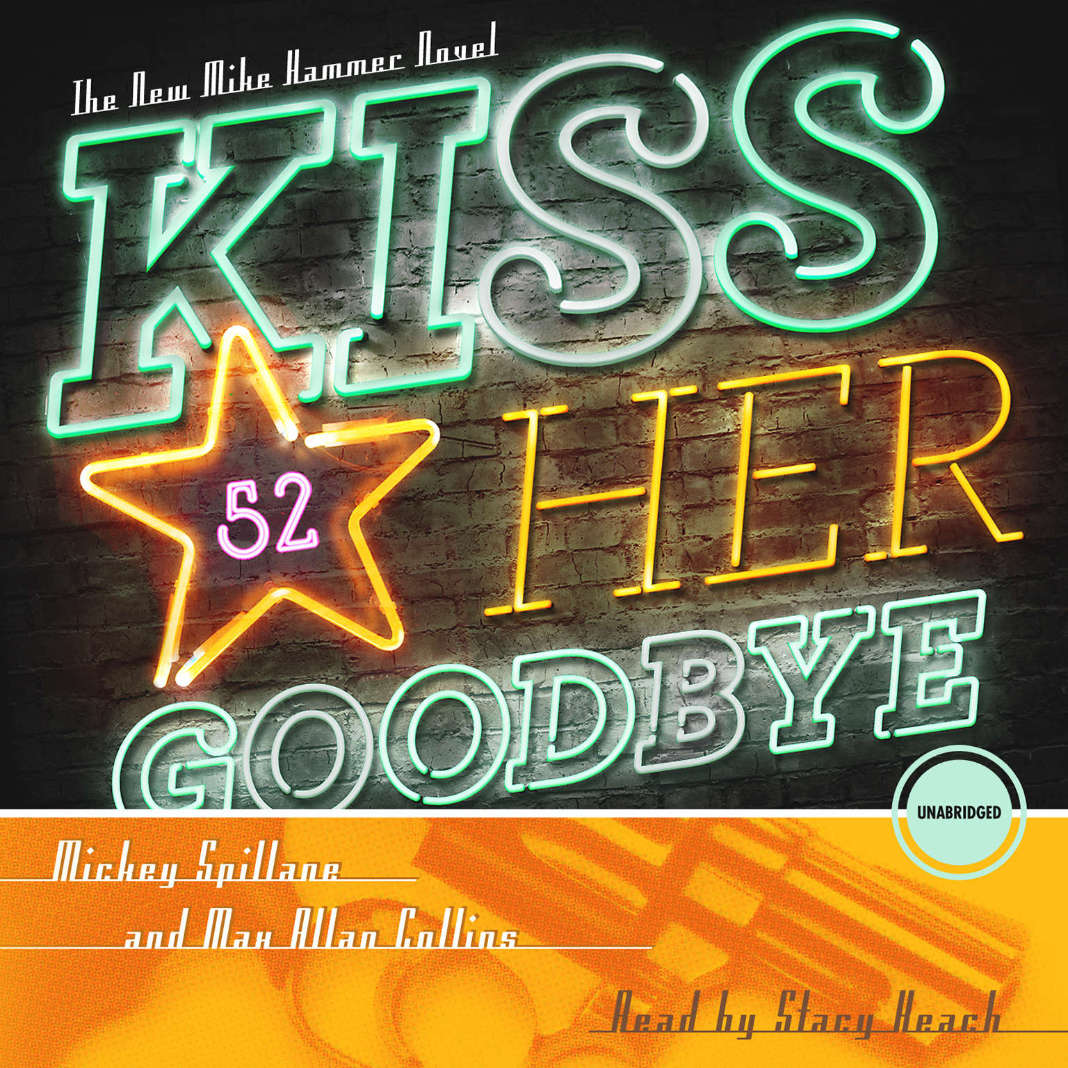 Printable Kiss Her Goodbye: A Mike Hammer Novel Audiobook Cover Art