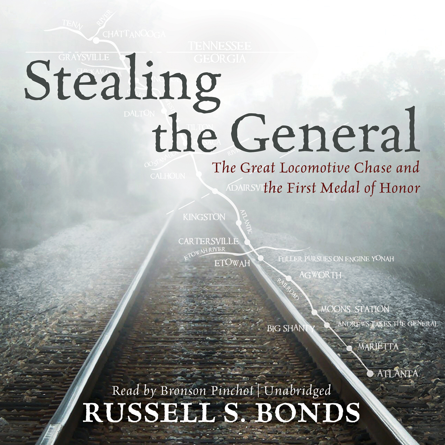 Printable Stealing the General: The Great Locomotive Chase and the First Medal of Honor Audiobook Cover Art