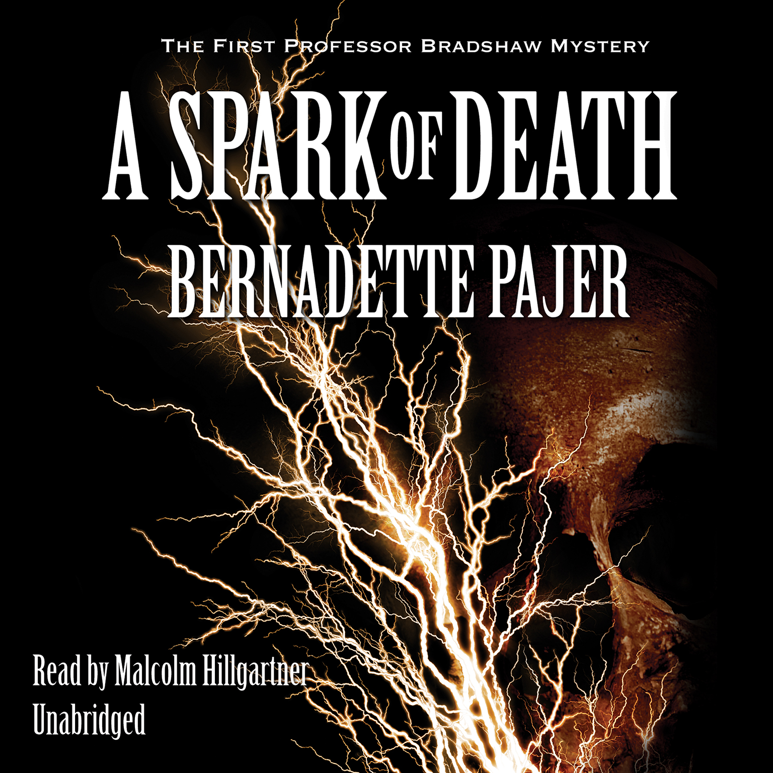 Printable A Spark of Death: The First Professor Bradshaw Mystery Audiobook Cover Art