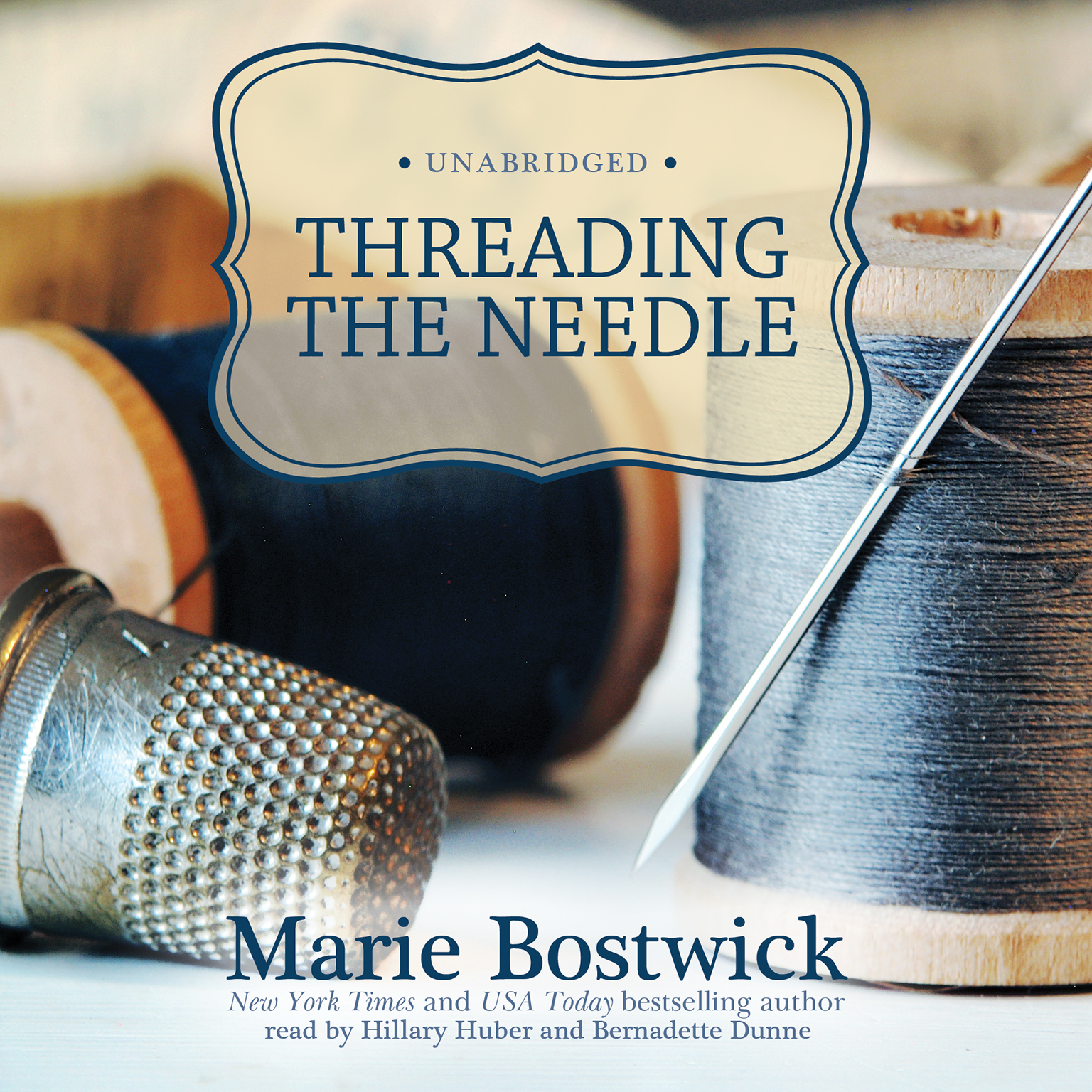 Printable Threading the Needle Audiobook Cover Art