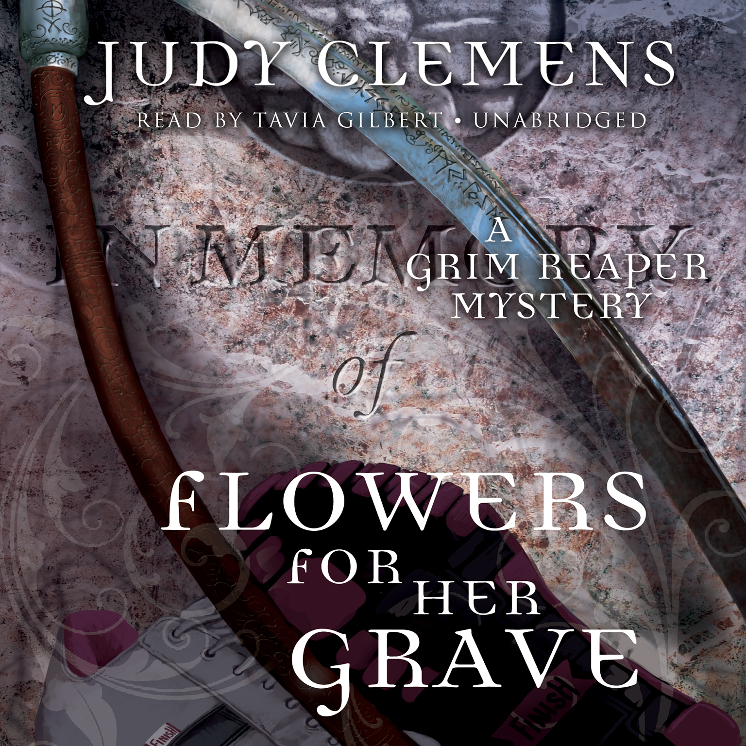 Printable Flowers for Her Grave: A Grim Reaper Mystery Audiobook Cover Art