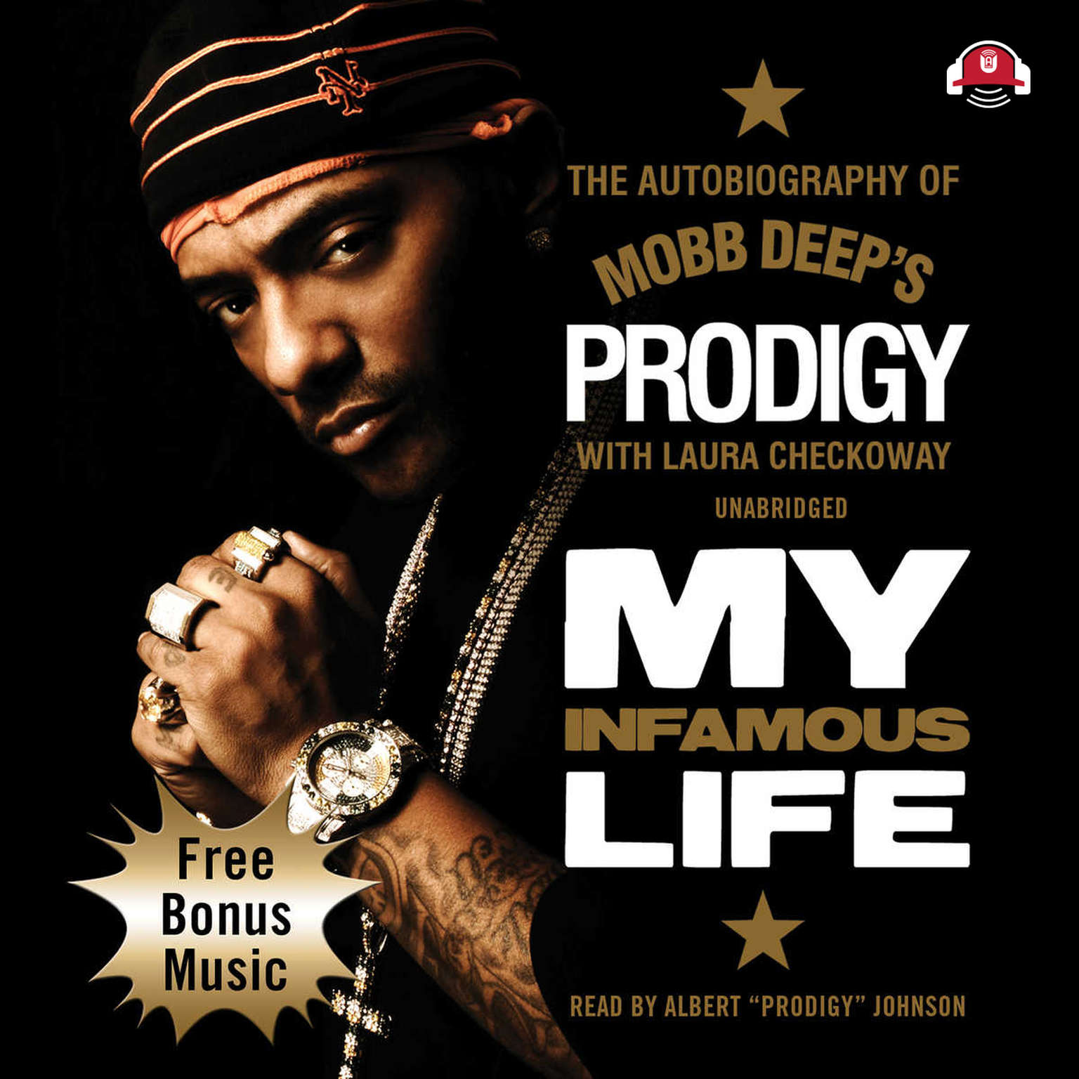 Printable My Infamous Life: The Autobiography of Mobb Deep's Prodigy Audiobook Cover Art