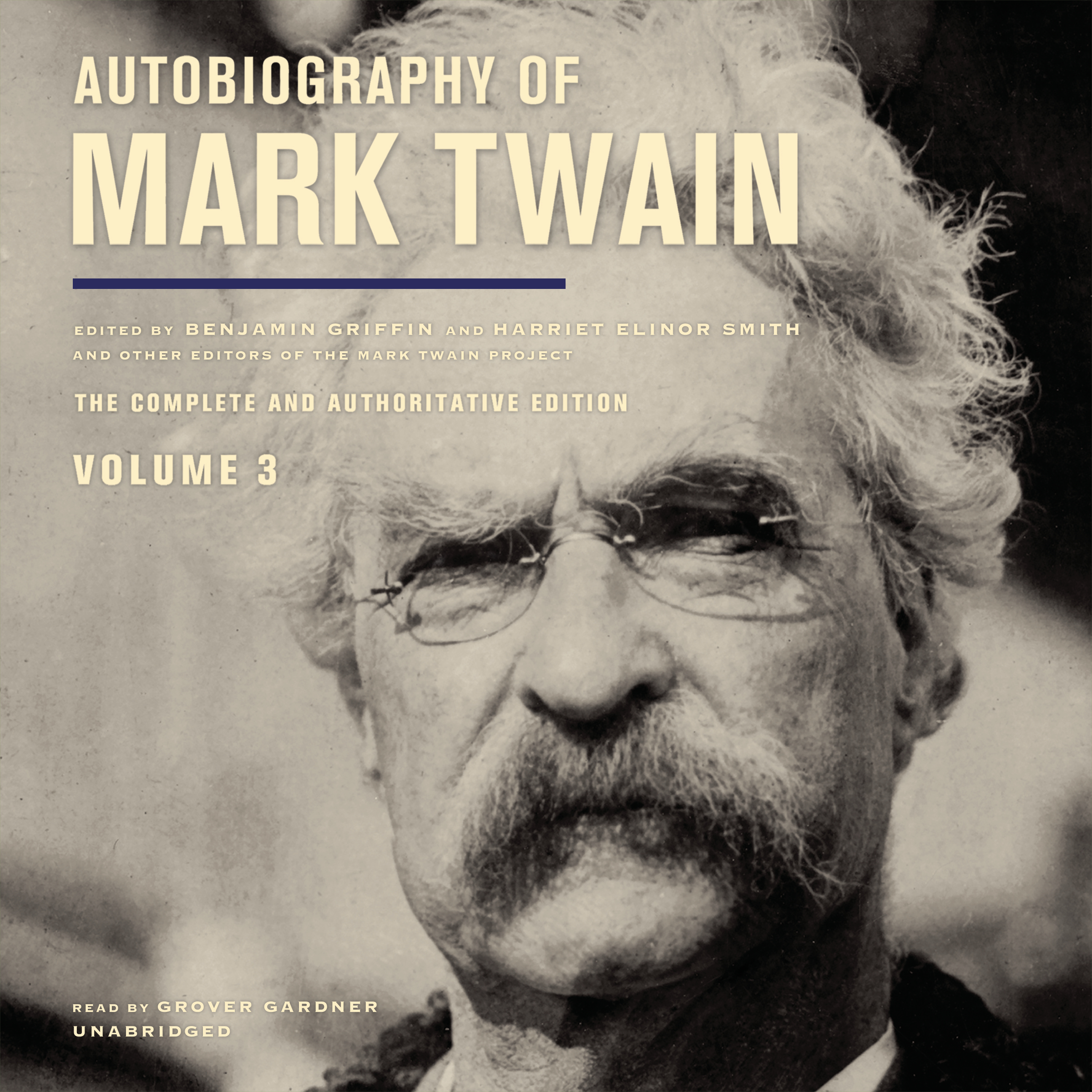 Printable Autobiography of Mark Twain, Vol. 3 Audiobook Cover Art